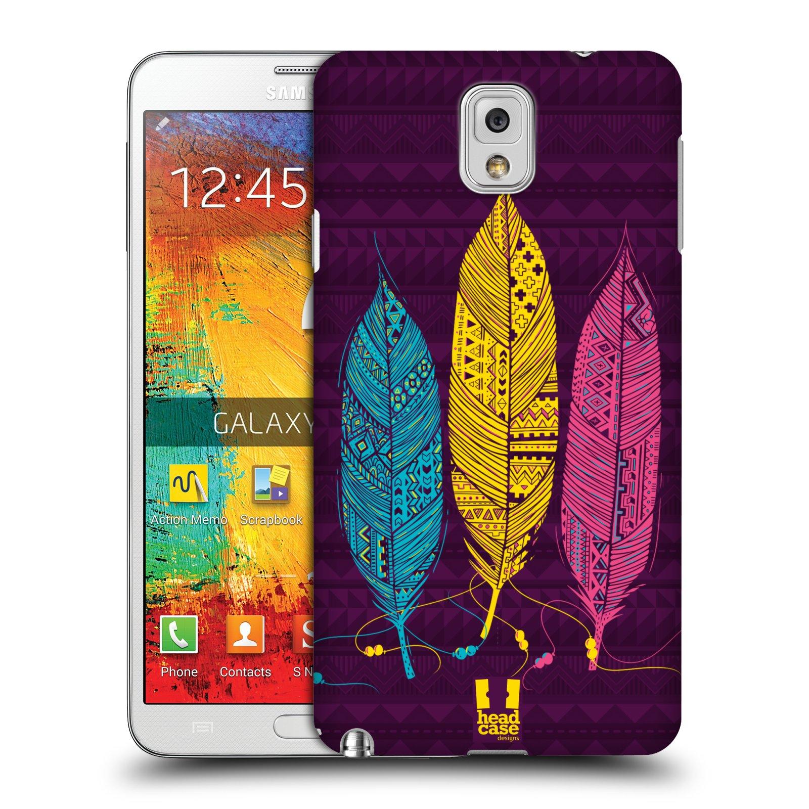 Plastové pouzdro na mobil Samsung Galaxy Note 3 HEAD CASE AZTEC PÍRKA 3 BAREV (Kryt či obal na mobilní telefon Samsung Galaxy Note 3 SM-N9005)