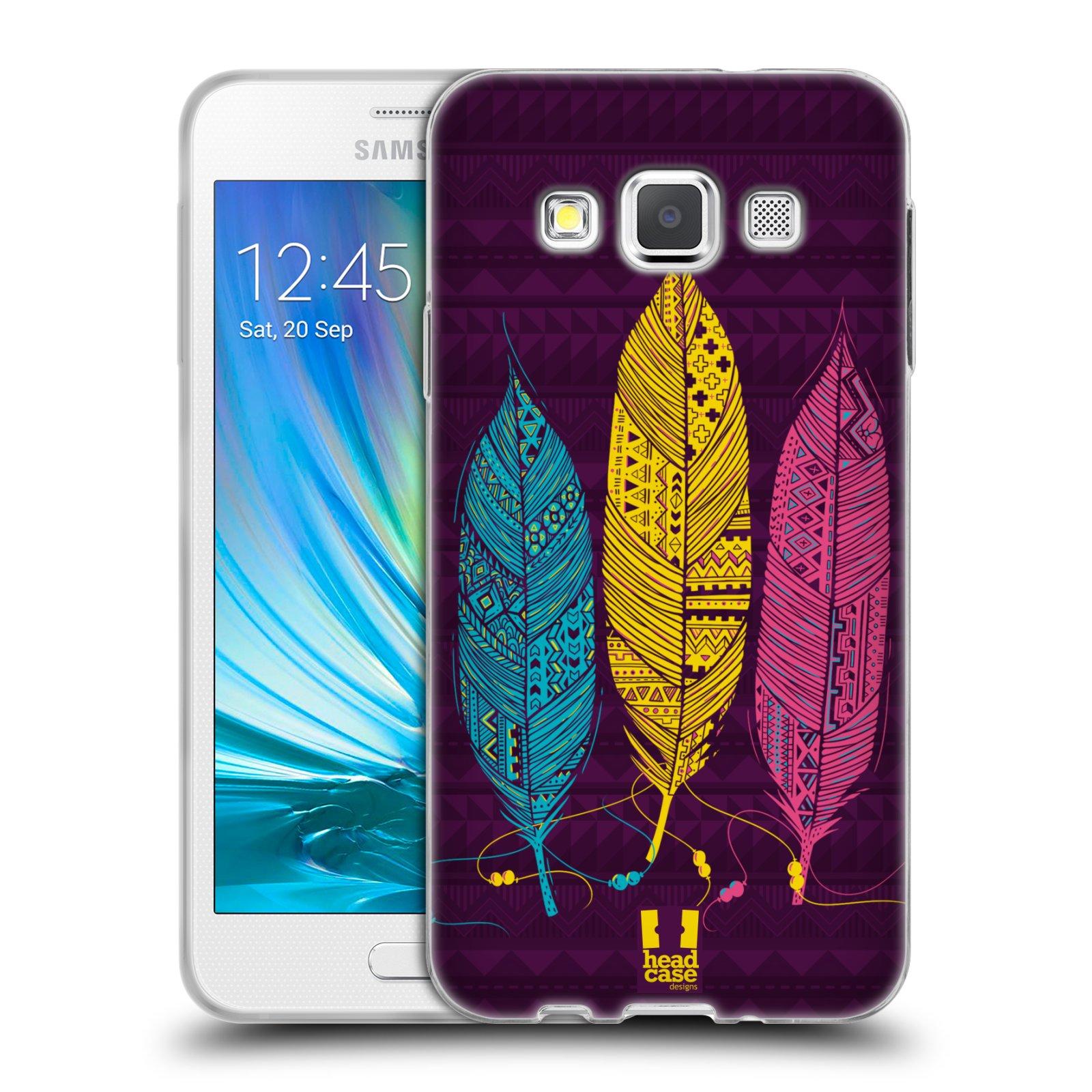 Silikonové pouzdro na mobil Samsung Galaxy A3 HEAD CASE AZTEC PÍRKA 3 BAREV (Silikonový kryt či obal na mobilní telefon Samsung Galaxy A3 SM-A300)