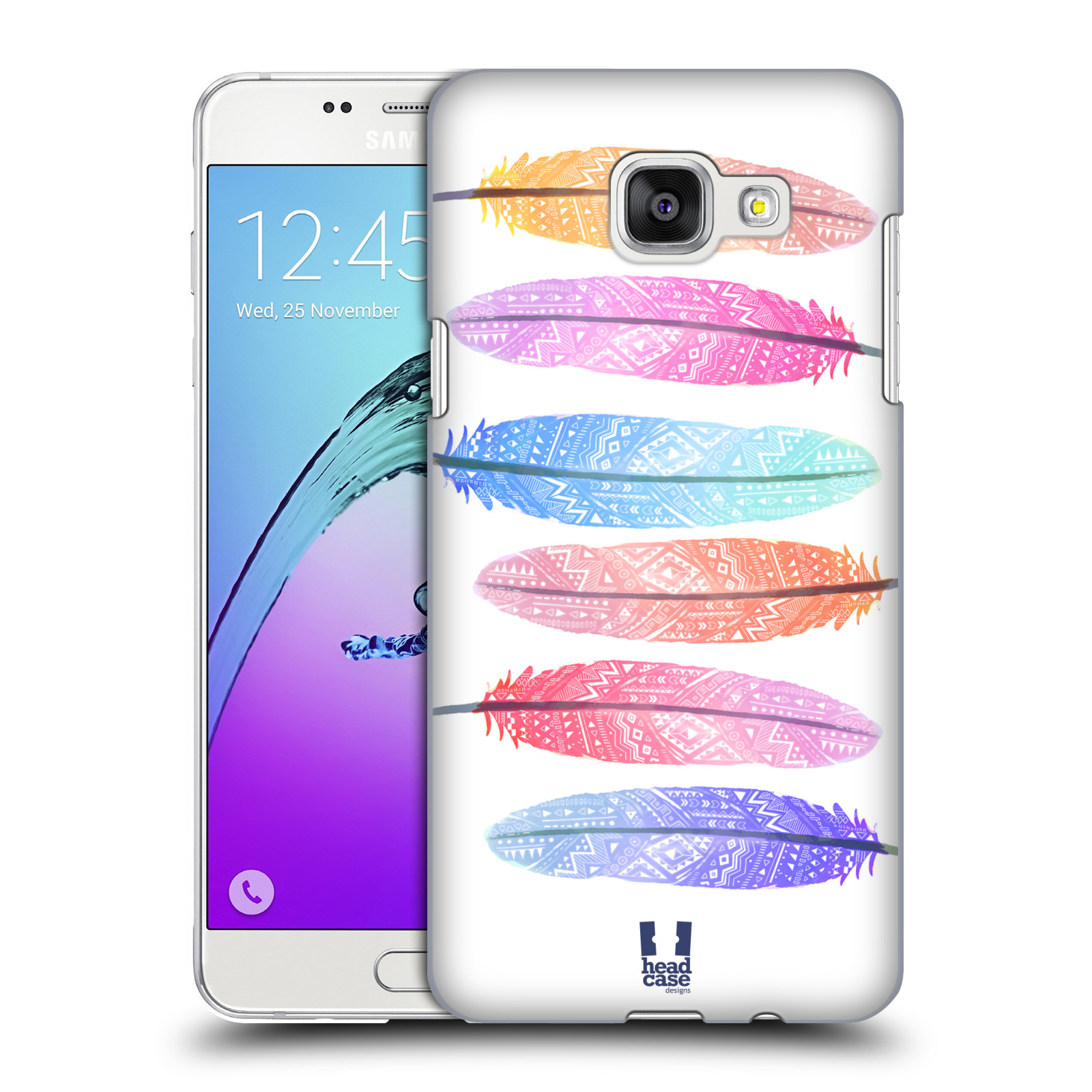 Plastové pouzdro na mobil Samsung Galaxy A5 (2016) HEAD CASE AZTEC PÍRKA SILUETY