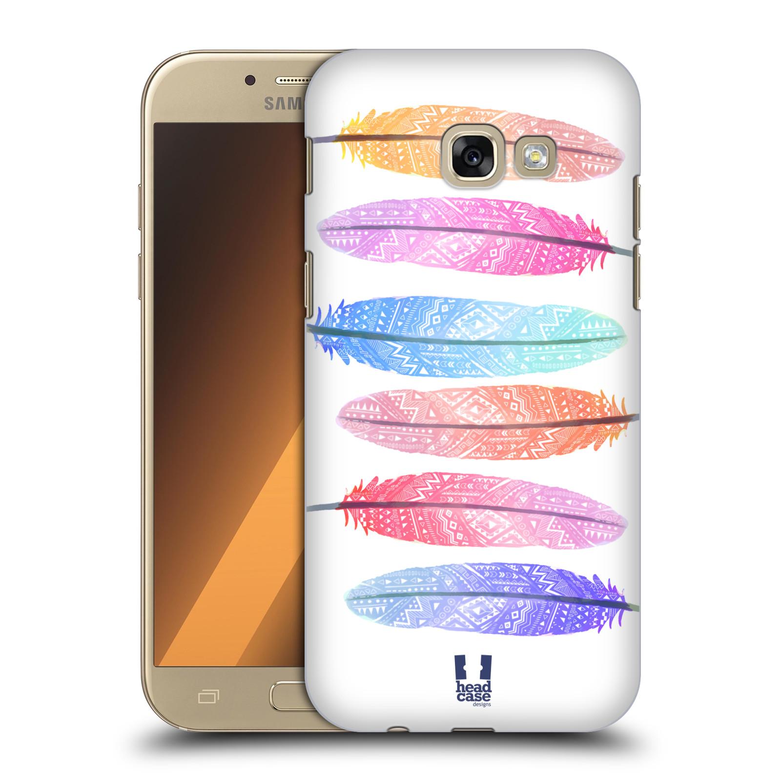 Plastové pouzdro na mobil Samsung Galaxy A5 (2017) HEAD CASE AZTEC PÍRKA SILUETY