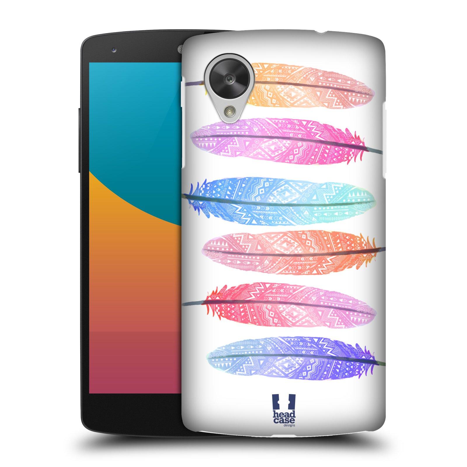 Plastové pouzdro na mobil LG Nexus 5 HEAD CASE AZTEC PÍRKA SILUETY (Kryt či obal na mobilní telefon LG Google Nexus 5 D821)