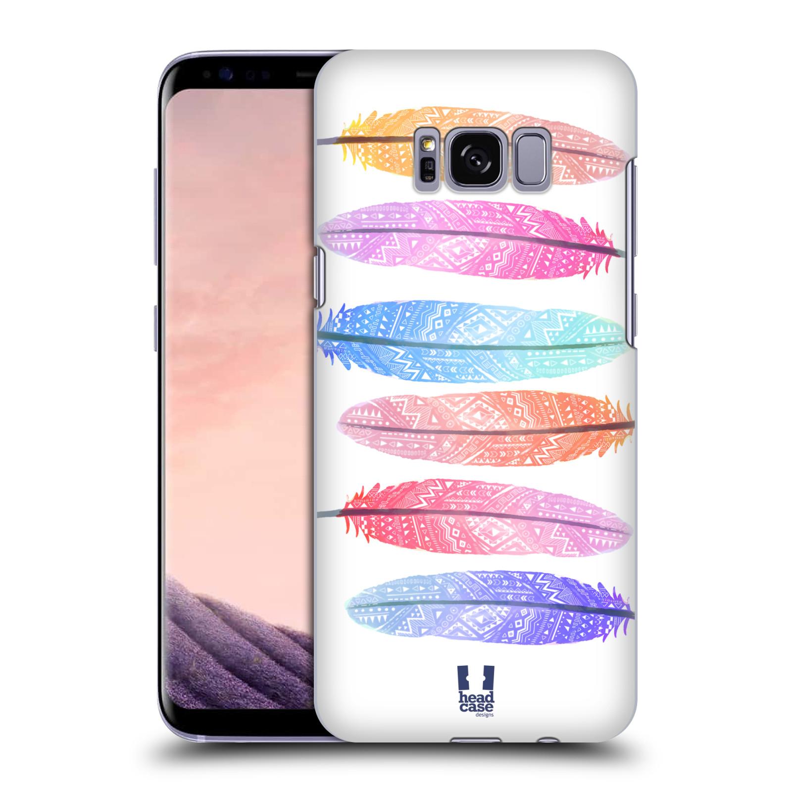 Plastové pouzdro na mobil Samsung Galaxy S8 Head Case AZTEC PÍRKA SILUETY