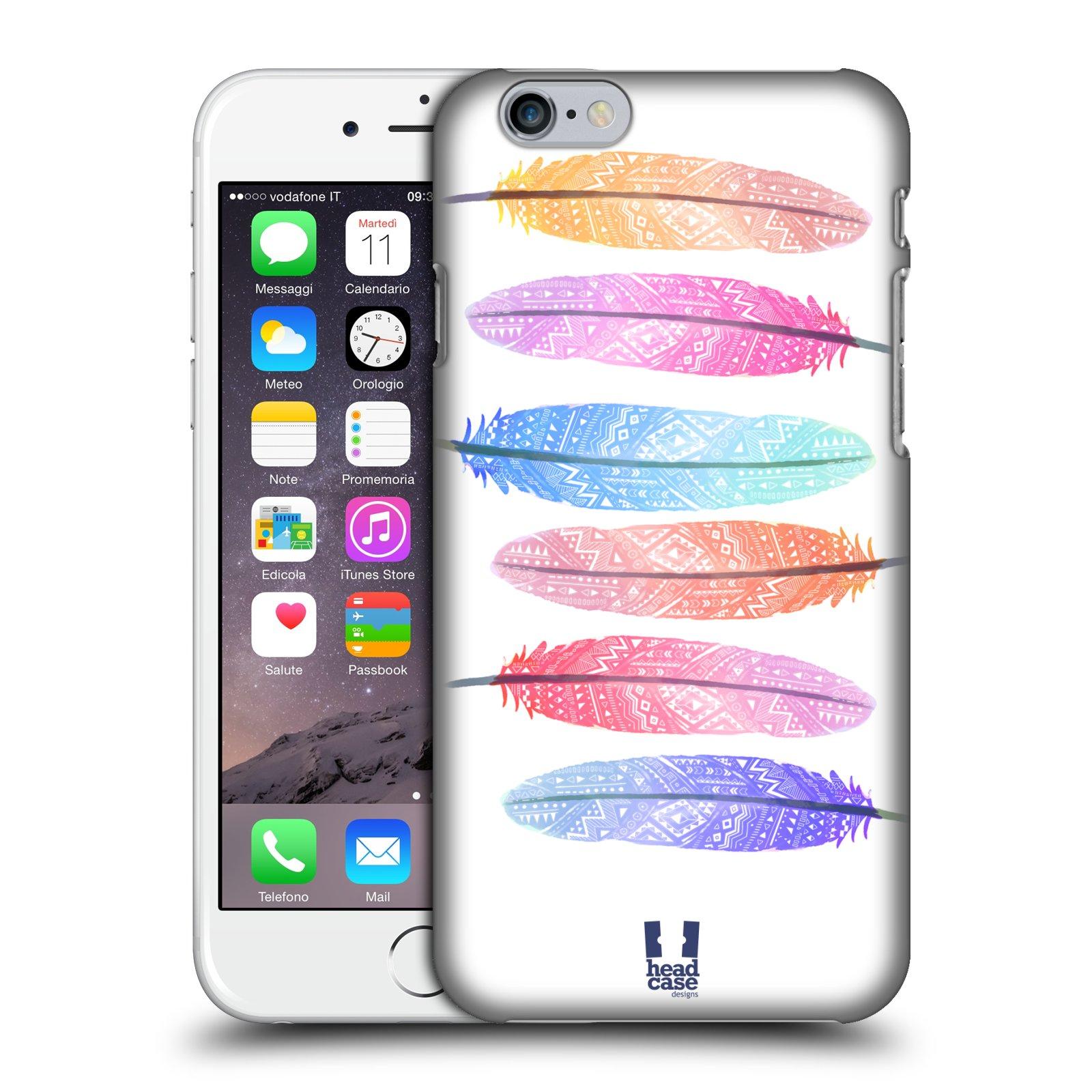 Plastové pouzdro na mobil Apple iPhone 6 a 6S HEAD CASE AZTEC PÍRKA SILUETY