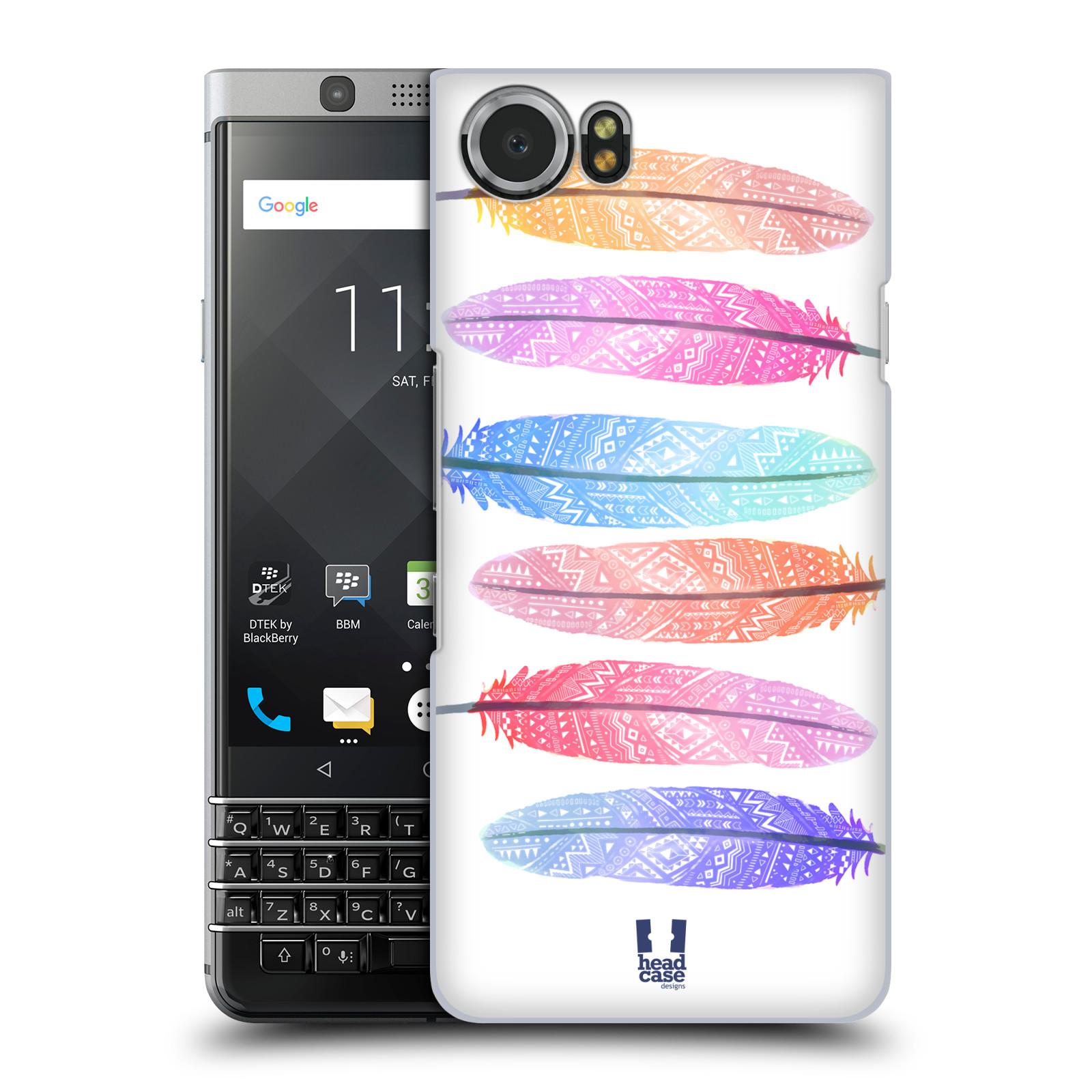 Plastové pouzdro na mobil BlackBerry KEYone - Head Case - AZTEC PÍRKA SILUETY