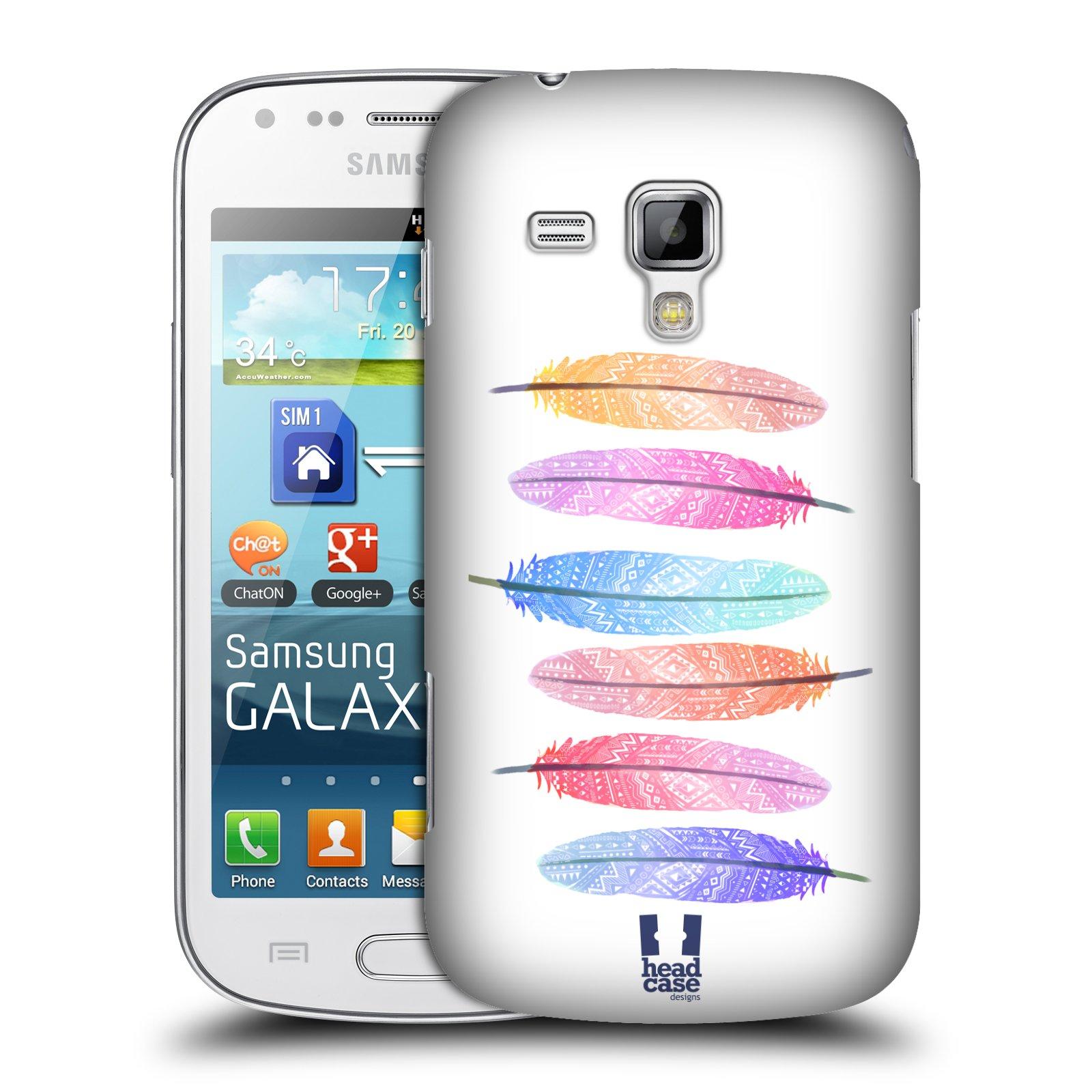 Plastové pouzdro na mobil Samsung Galaxy Trend Plus HEAD CASE AZTEC PÍRKA SILUETY