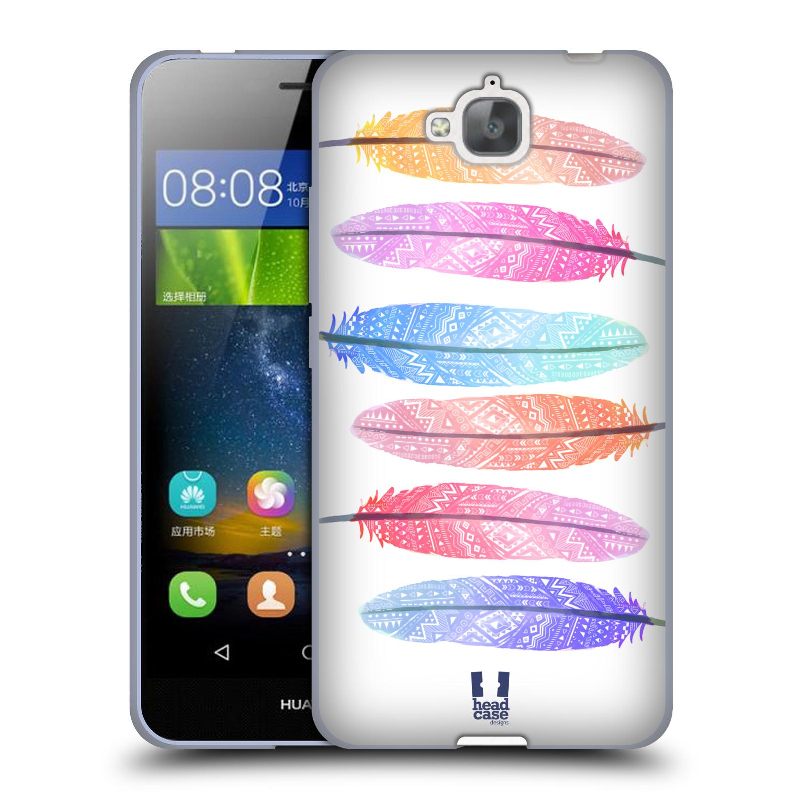 Silikonové pouzdro na mobil Huawei Y6 Pro Dual Sim HEAD CASE AZTEC PÍRKA SILUETY