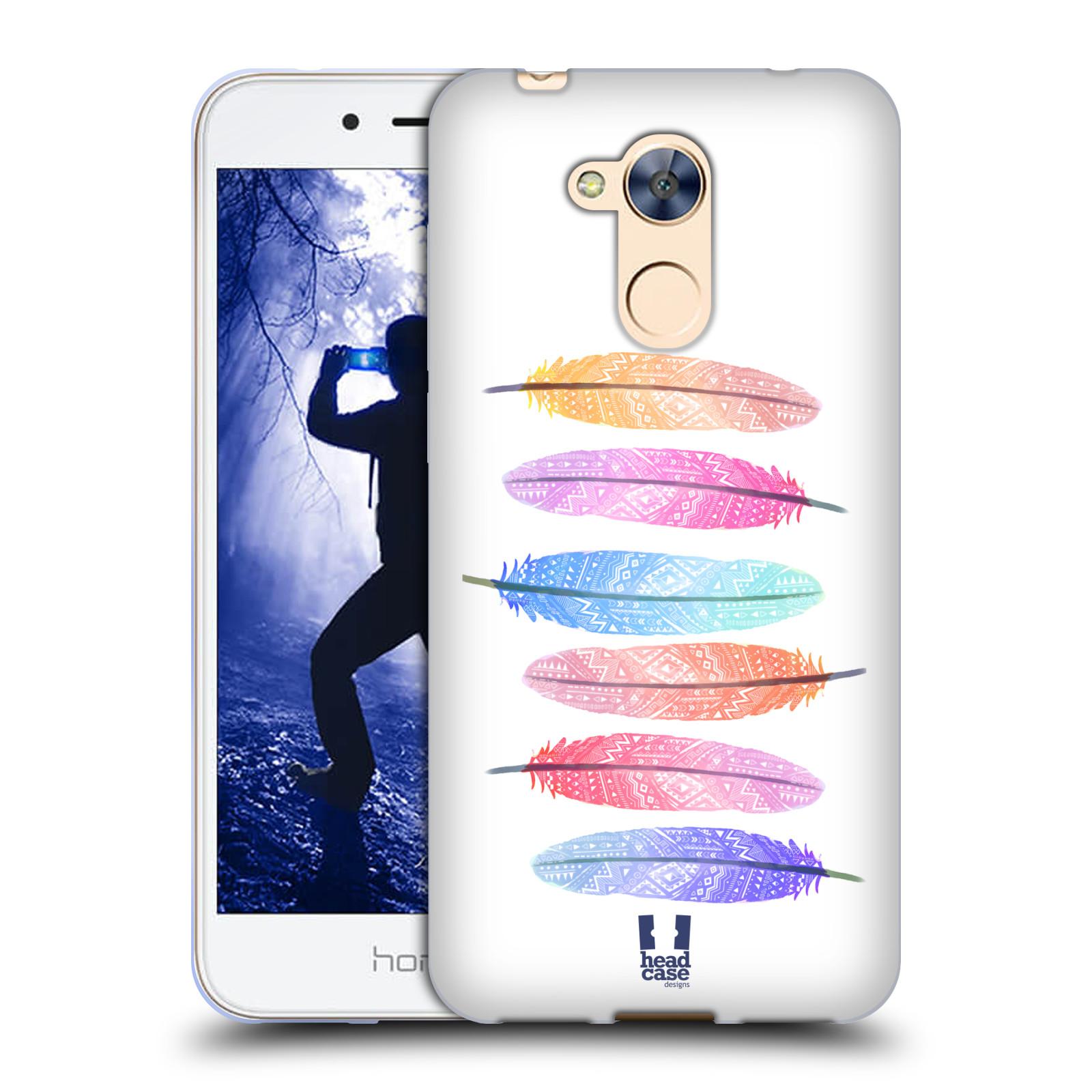 Silikonové pouzdro na mobil Honor 6A - Head Case - AZTEC PÍRKA SILUETY