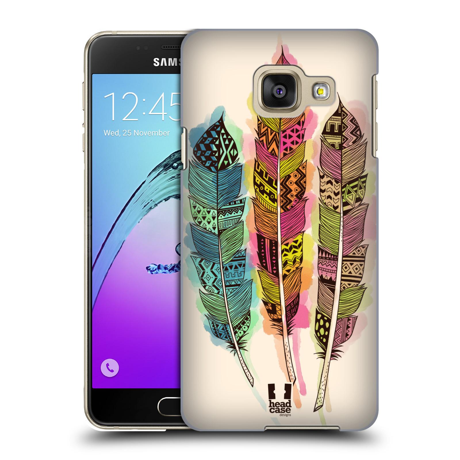 Plastové pouzdro na mobil Samsung Galaxy A3 (2016) HEAD CASE AZTEC PÍRKA SPLASH