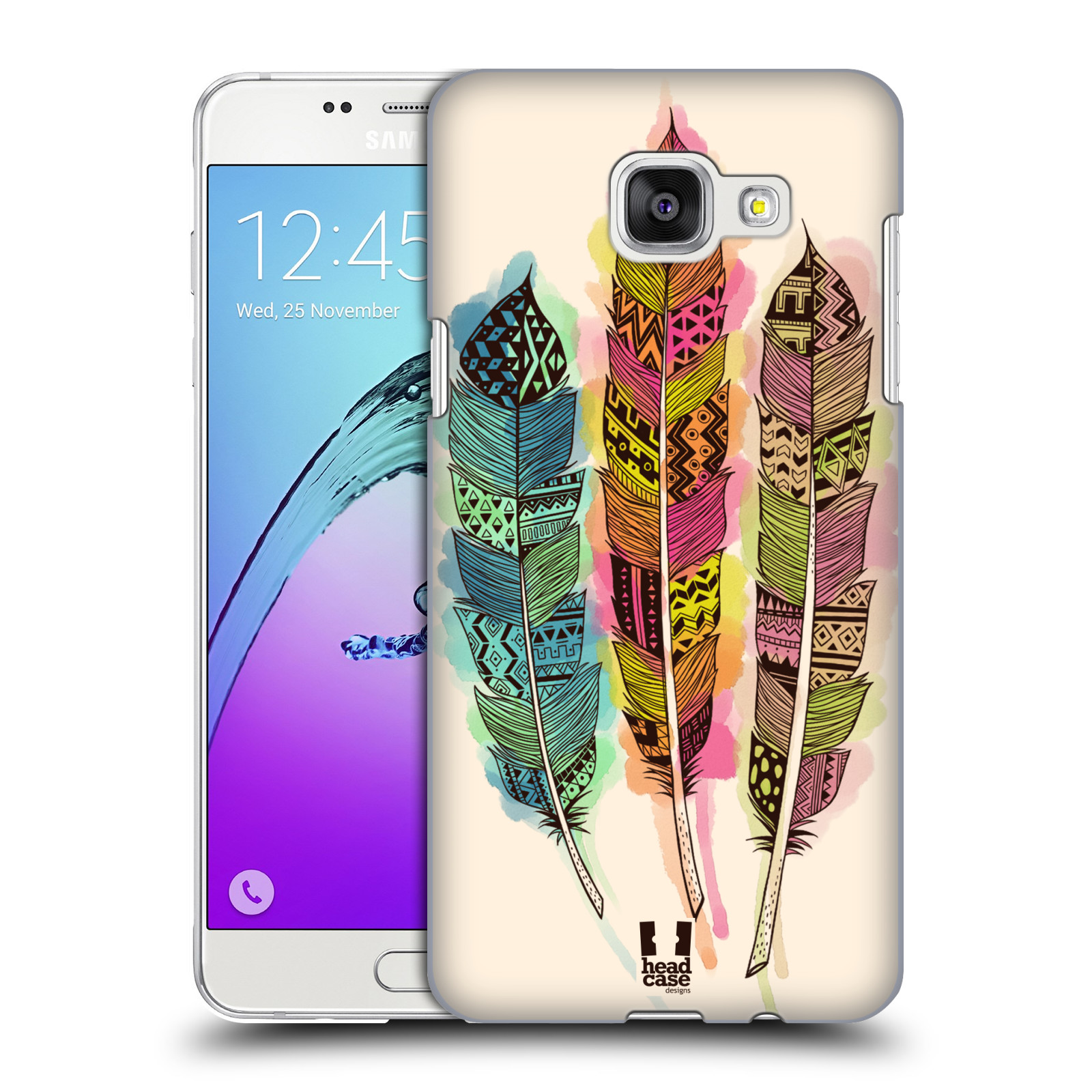 Plastové pouzdro na mobil Samsung Galaxy A5 (2016) HEAD CASE AZTEC PÍRKA SPLASH