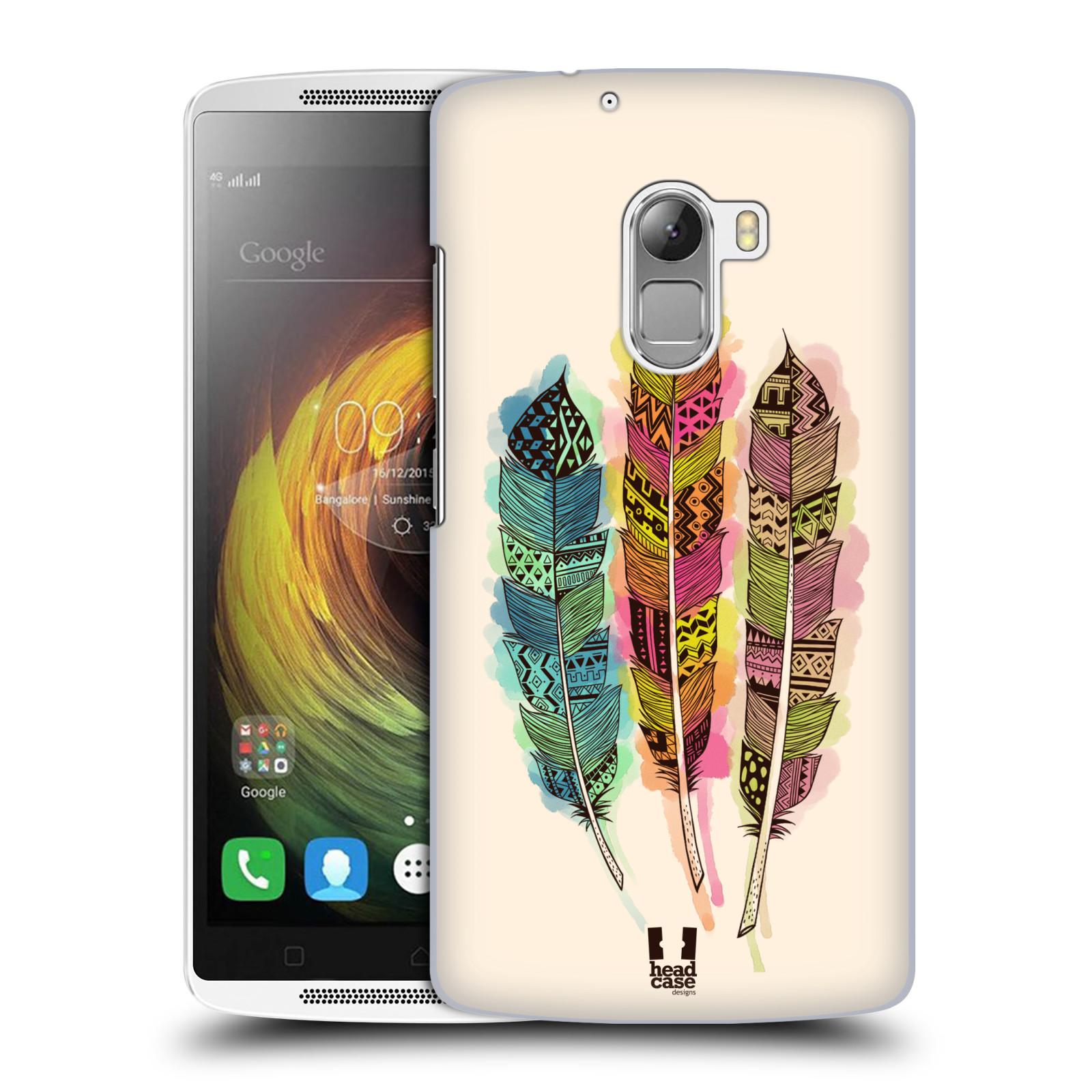 Plastové pouzdro na mobil Lenovo A7010 HEAD CASE AZTEC PÍRKA SPLASH