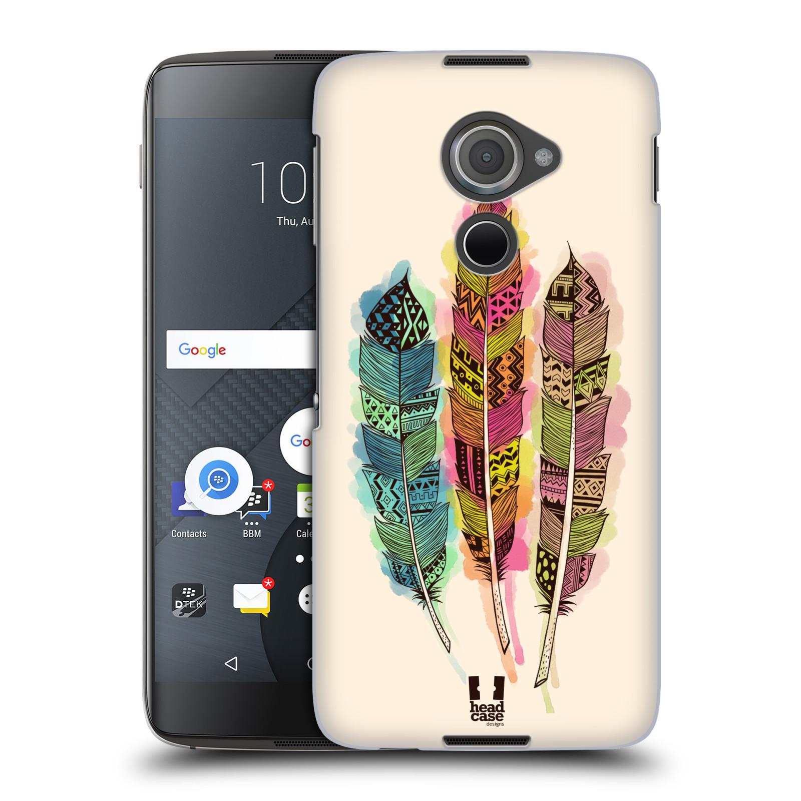 Plastové pouzdro na mobil Blackberry DTEK60 (Argon) - Head Case AZTEC PÍRKA SPLASH