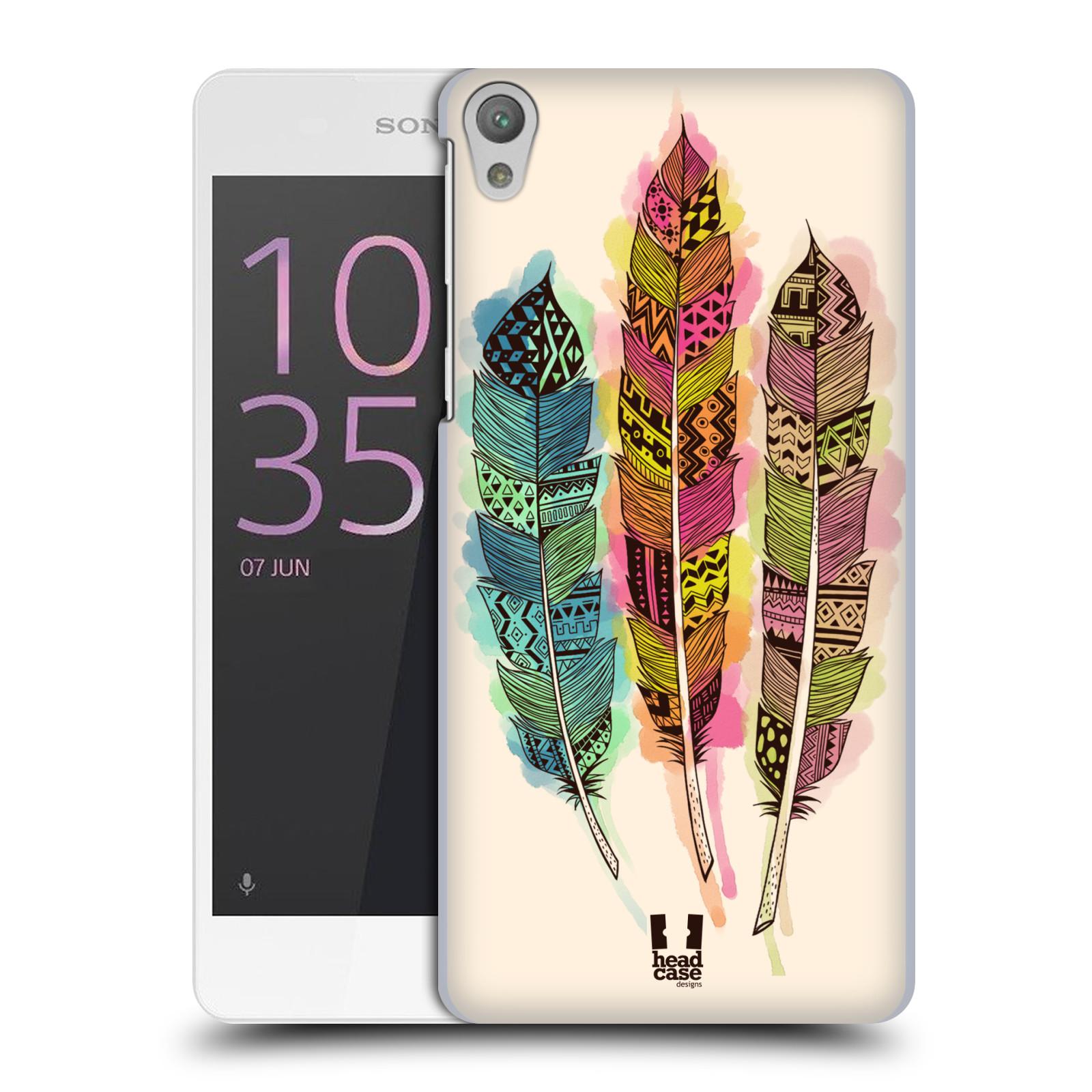 Plastové pouzdro na mobil Sony Xperia E5 HEAD CASE AZTEC PÍRKA SPLASH