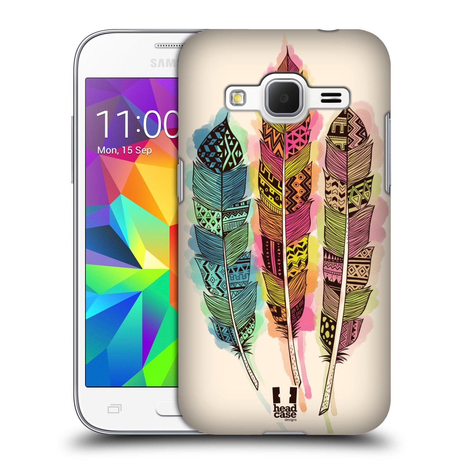 Plastové pouzdro na mobil Samsung Galaxy Core Prime LTE HEAD CASE AZTEC PÍRKA SPLASH