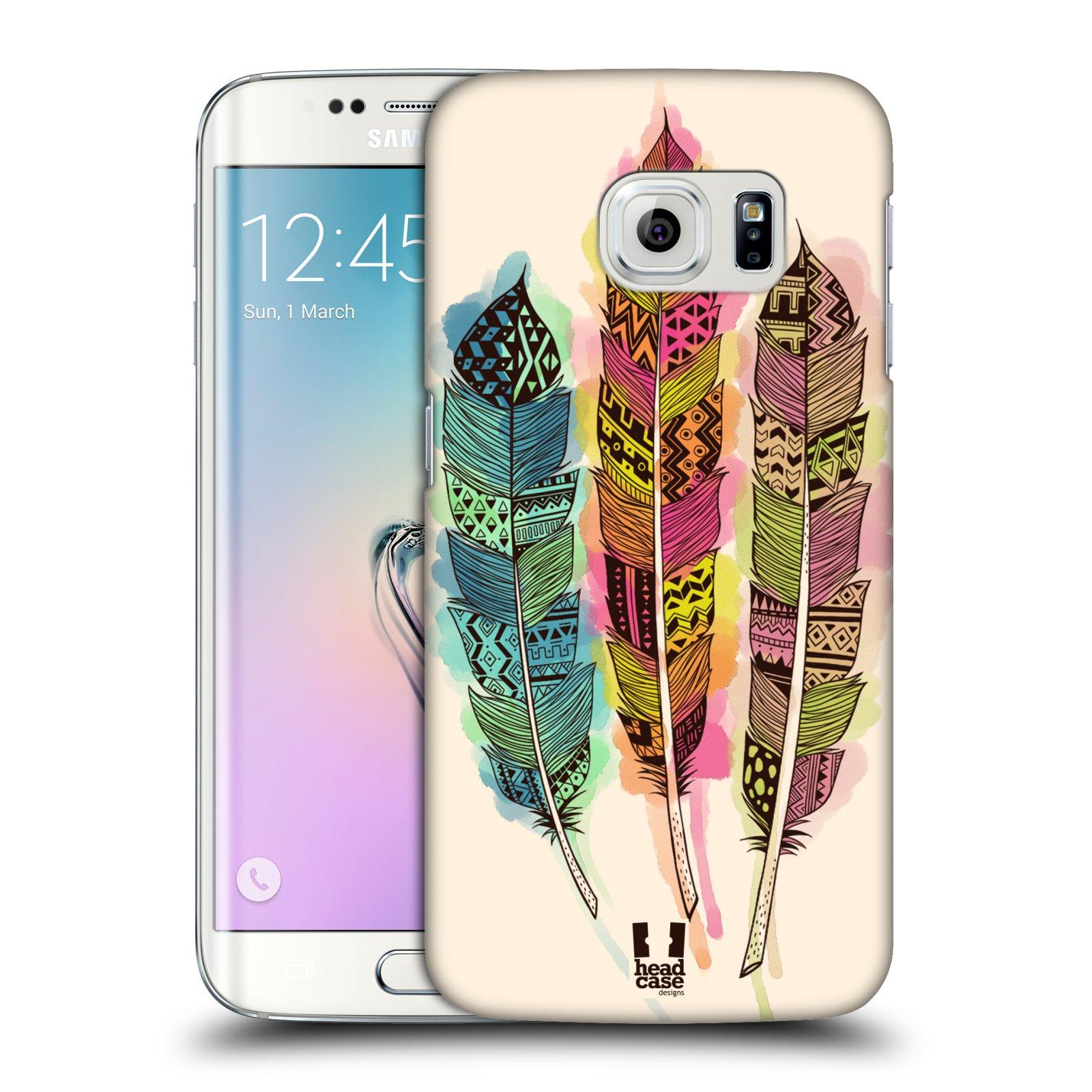 Plastové pouzdro na mobil Samsung Galaxy S6 Edge HEAD CASE AZTEC PÍRKA SPLASH
