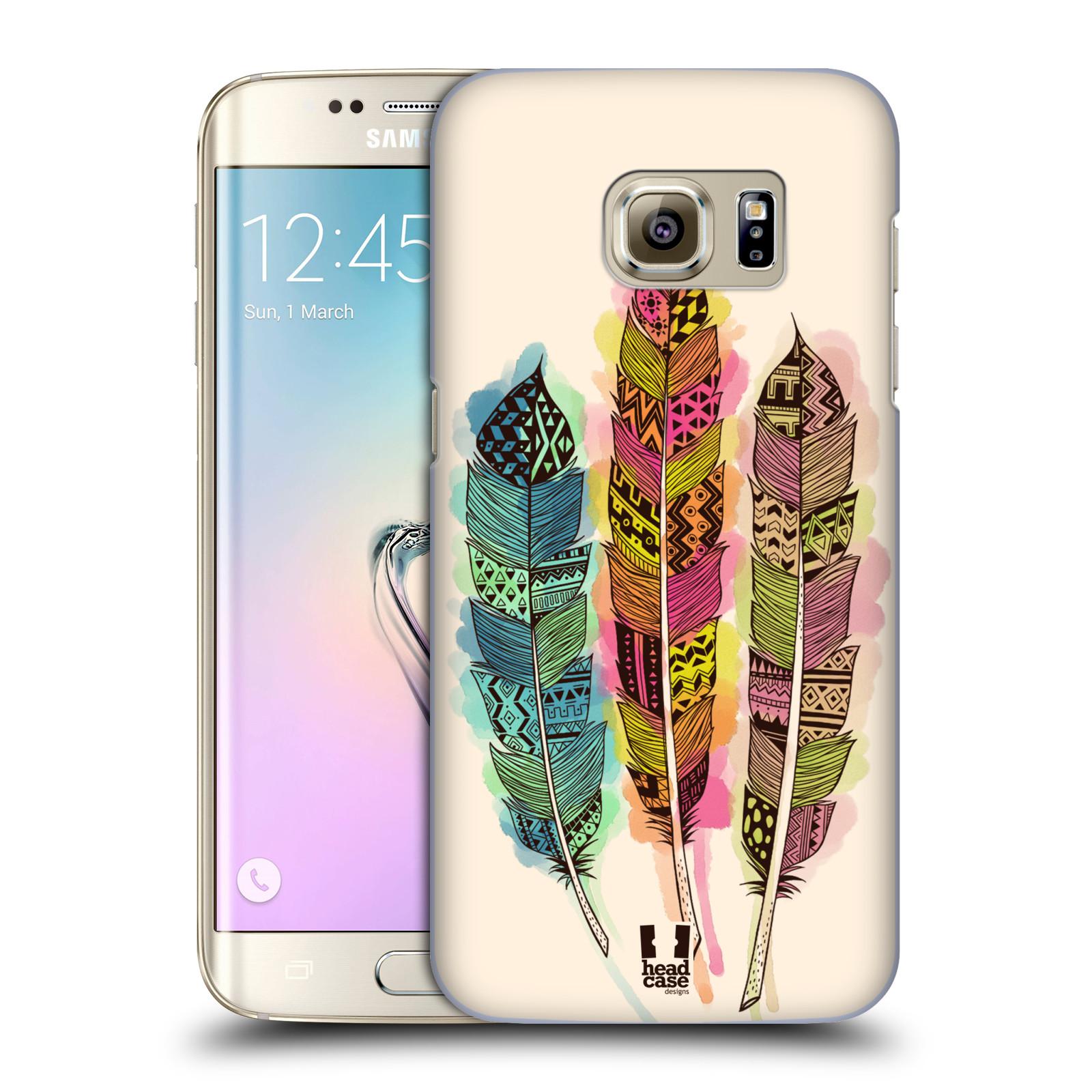 Plastové pouzdro na mobil Samsung Galaxy S7 Edge HEAD CASE AZTEC PÍRKA SPLASH