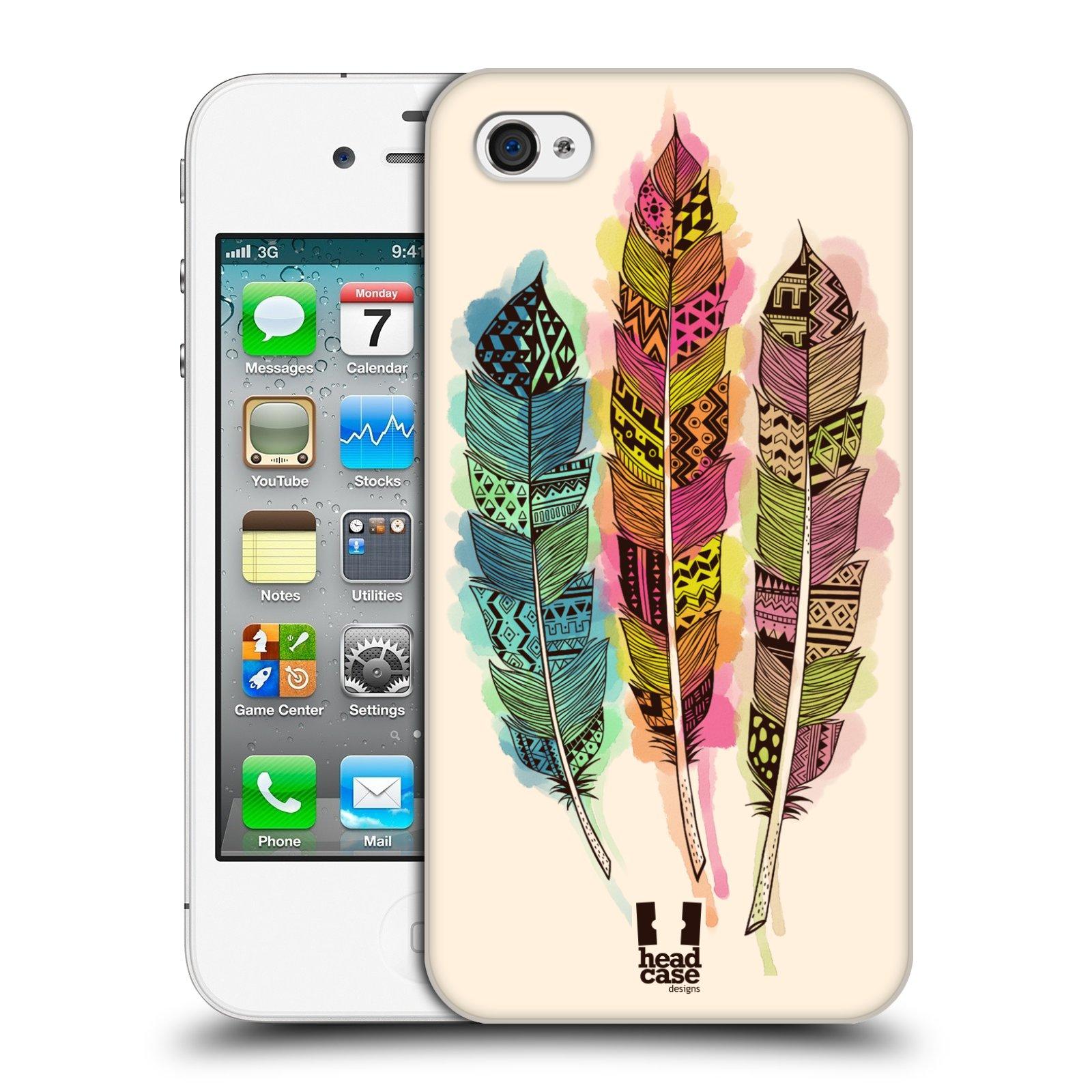Plastové pouzdro na mobil Apple iPhone 4 a 4S HEAD CASE AZTEC PÍRKA SPLASH