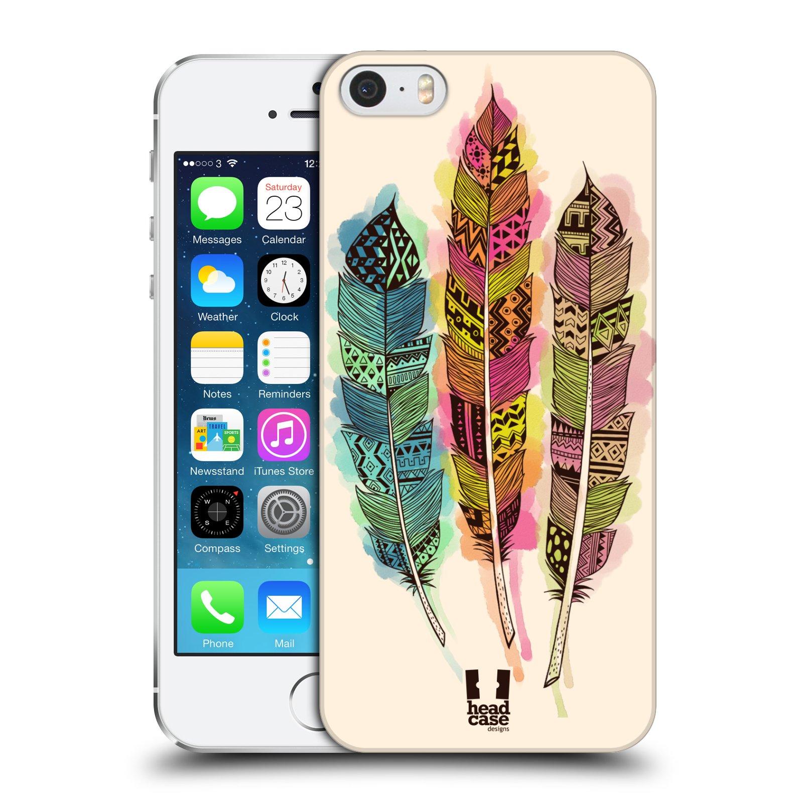 Plastové pouzdro na mobil Apple iPhone SE, 5 a 5S HEAD CASE AZTEC PÍRKA SPLASH