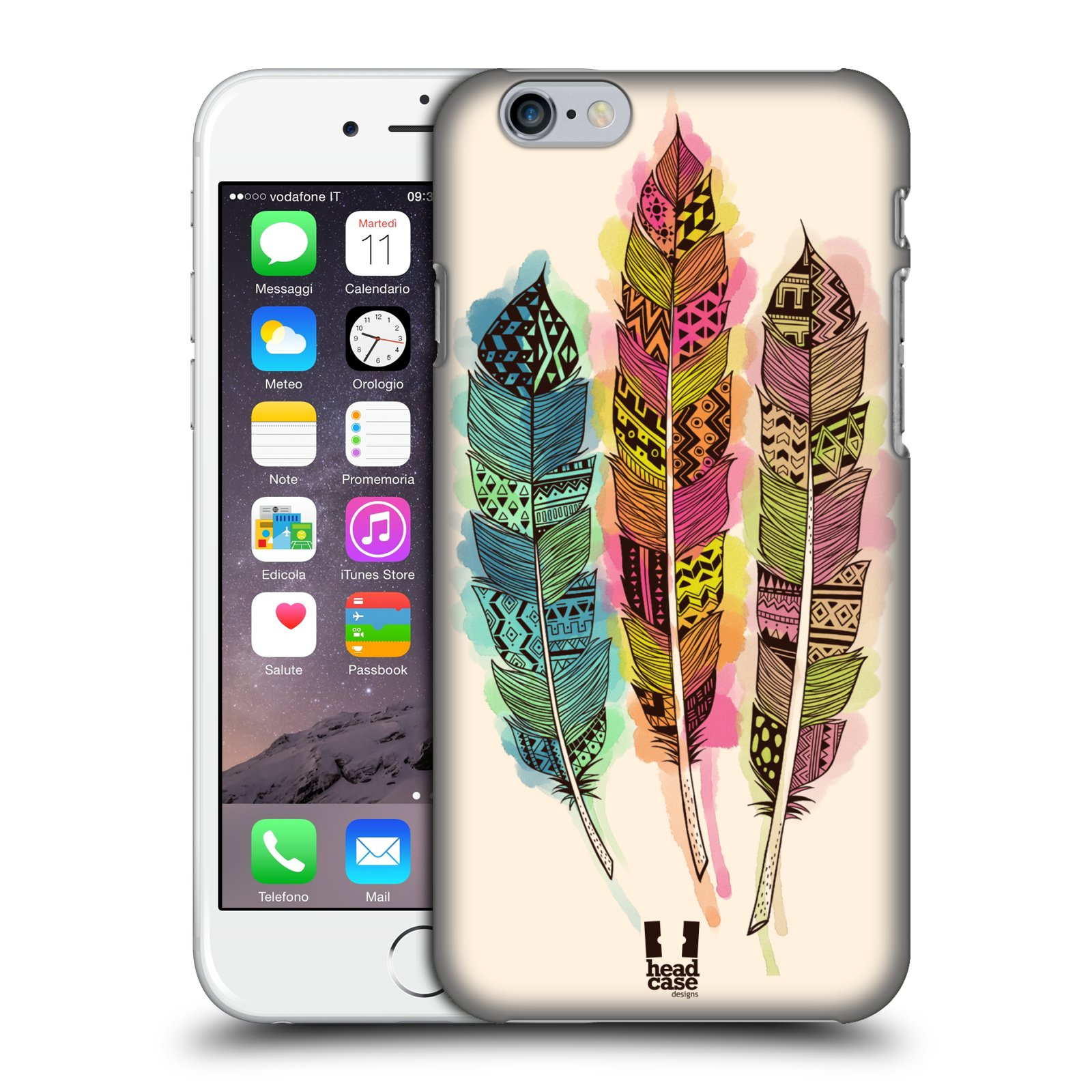 Plastové pouzdro na mobil Apple iPhone 6 a 6S HEAD CASE AZTEC PÍRKA SPLASH