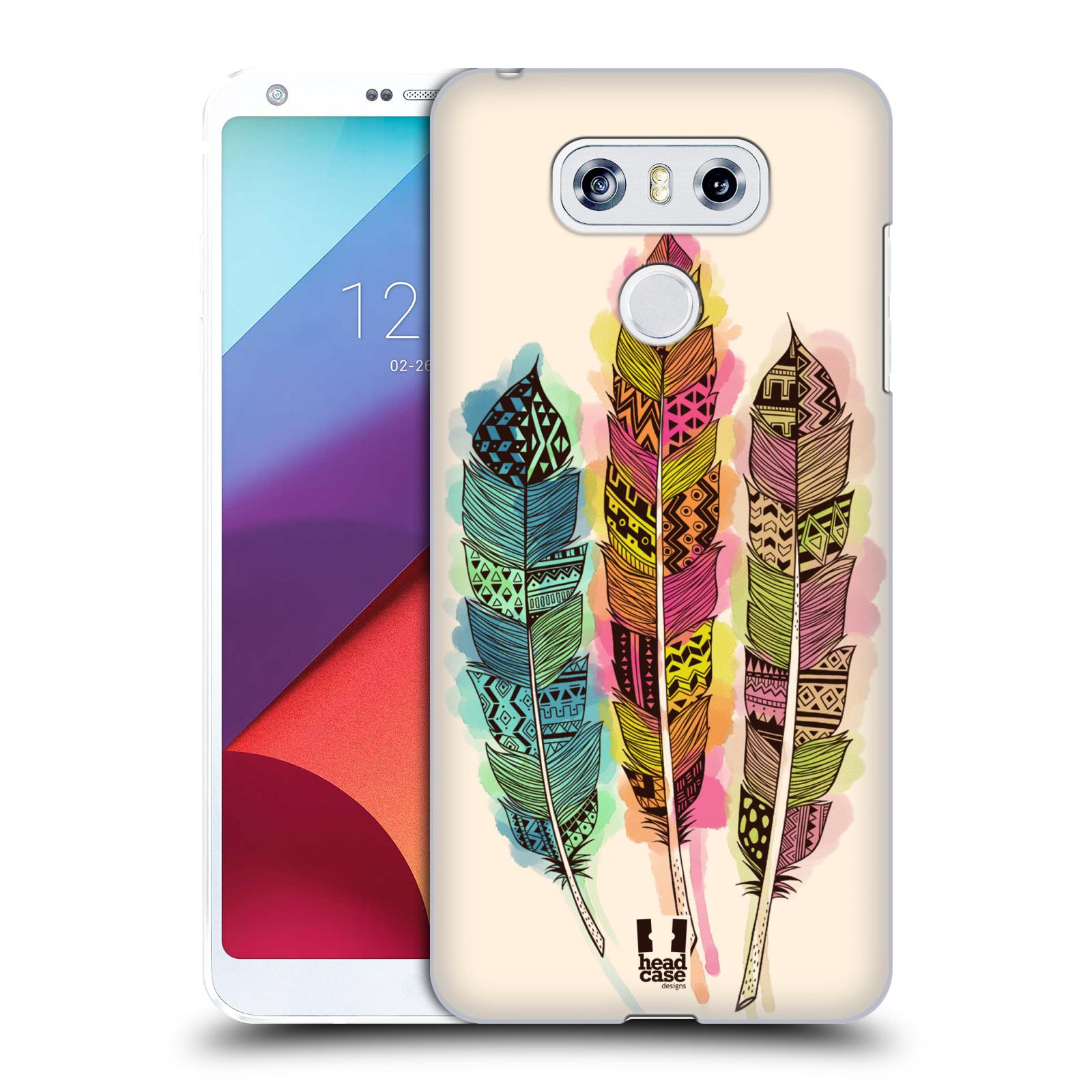 Plastové pouzdro na mobil LG G6 - Head Case AZTEC PÍRKA SPLASH