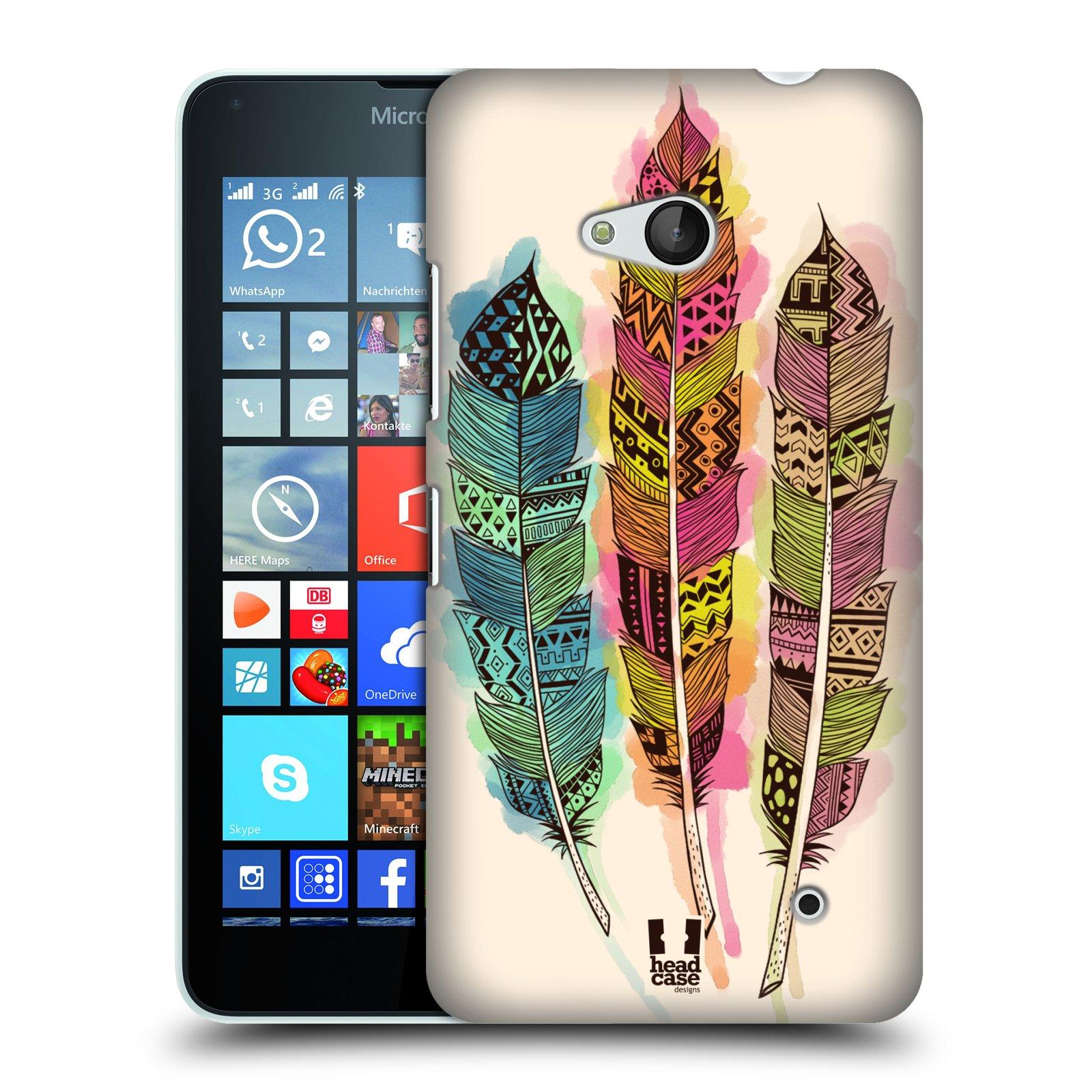 Plastové pouzdro na mobil Microsoft Lumia 640 HEAD CASE AZTEC PÍRKA SPLASH