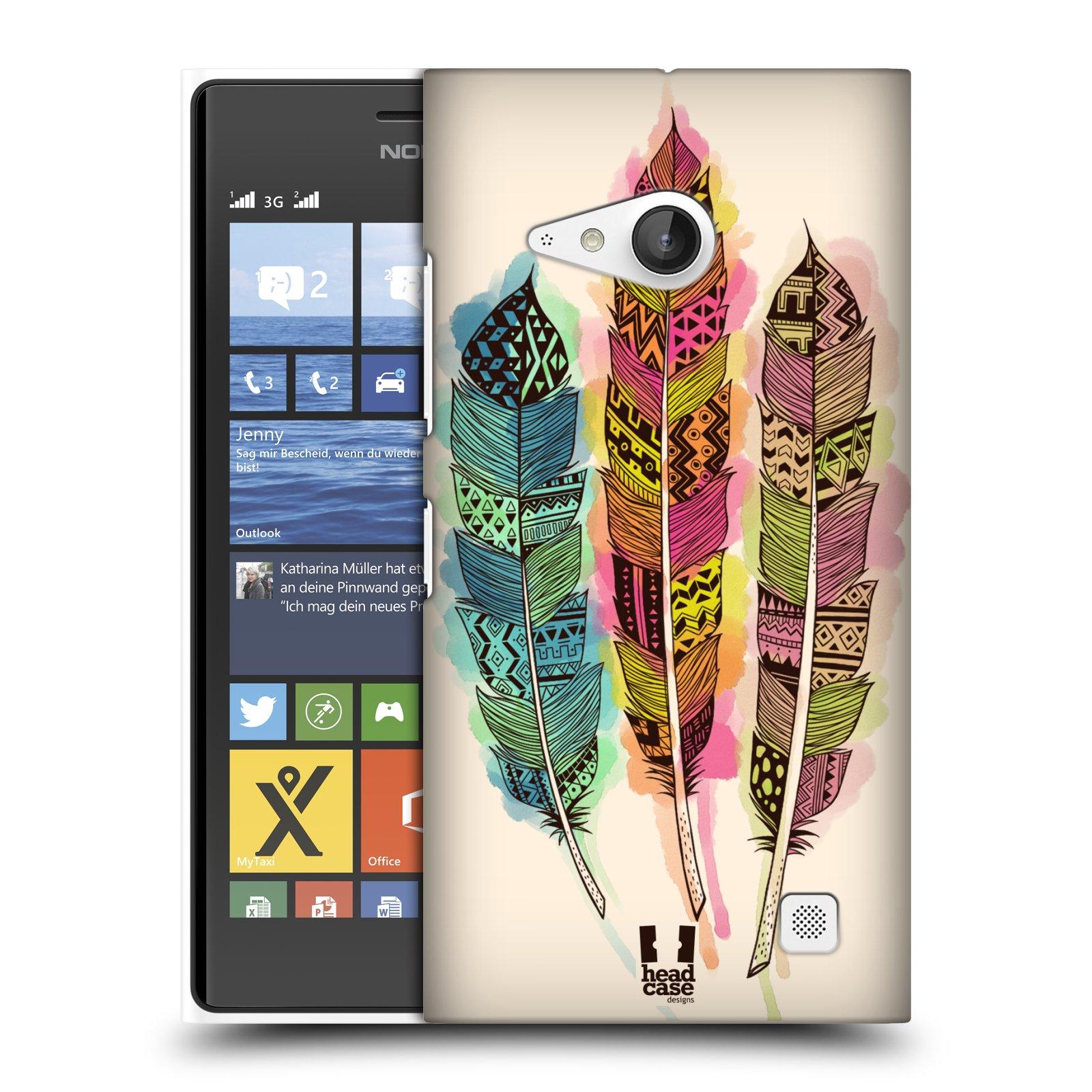 Plastové pouzdro na mobil Nokia Lumia 735 HEAD CASE AZTEC PÍRKA SPLASH