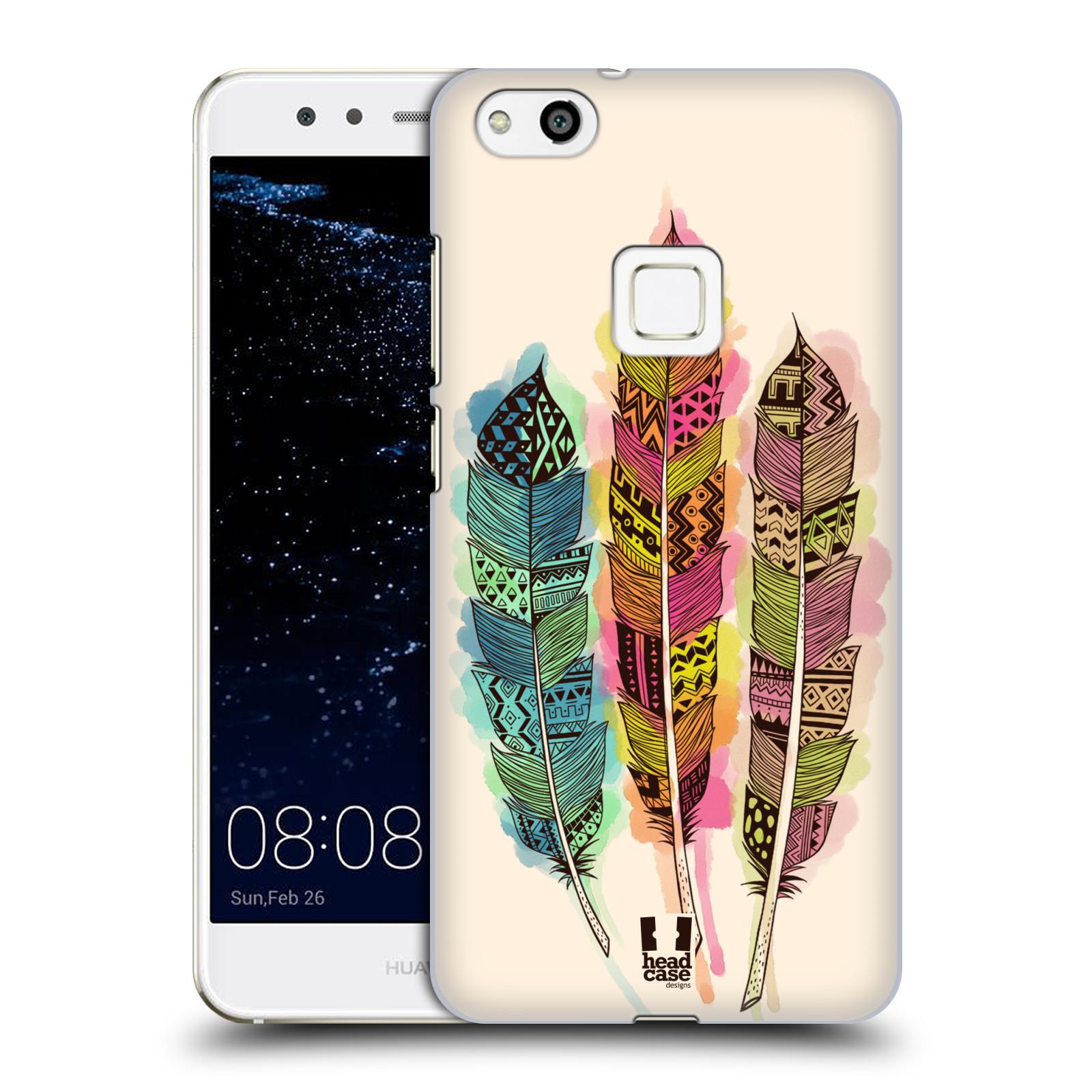 Plastové pouzdro na mobil Huawei P10 Lite Head Case - AZTEC PÍRKA SPLASH (Plastový kryt či obal na mobilní telefon Huawei P10 Lite Dual SIM (LX1/LX1A))