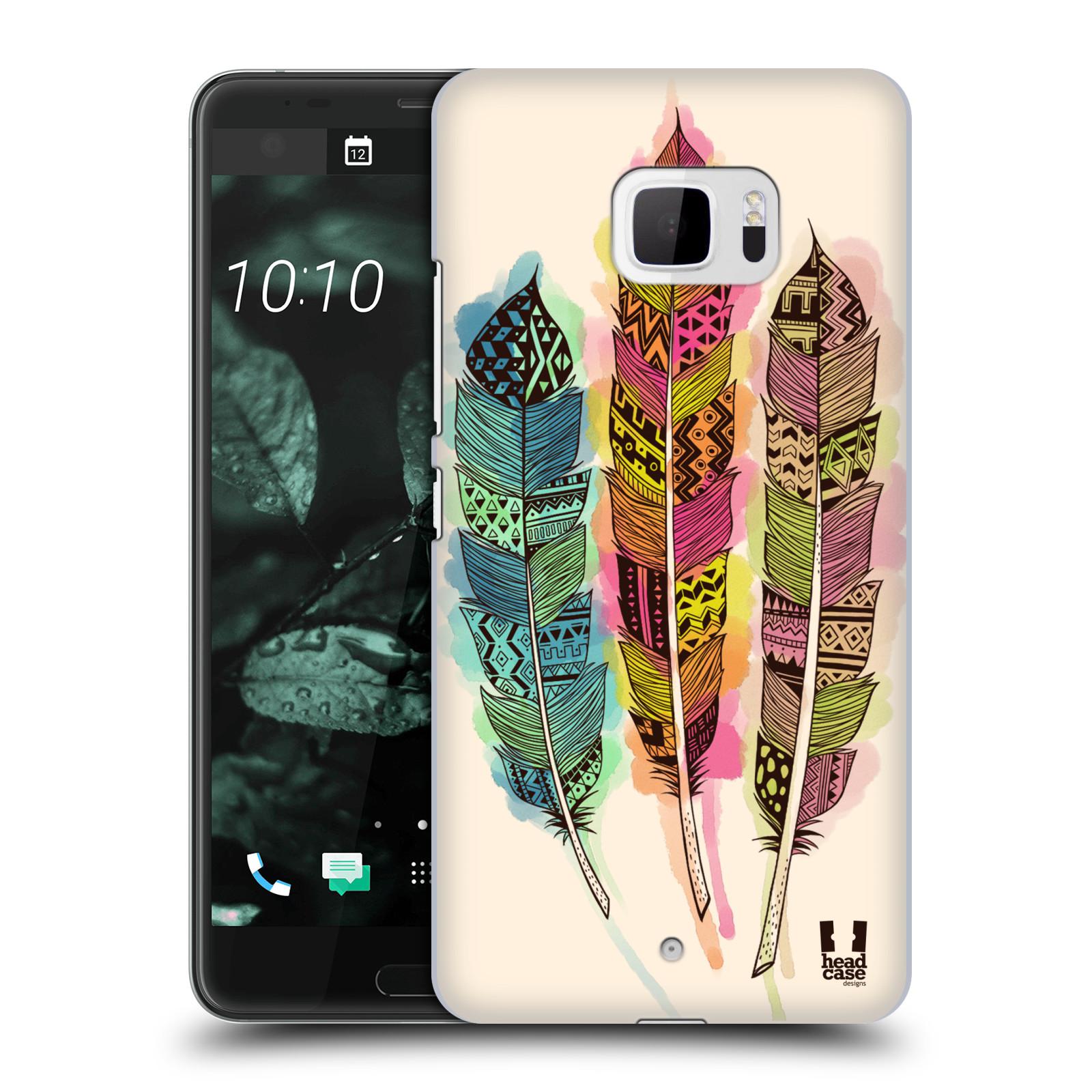 Plastové pouzdro na mobil HTC U Ultra Head Case - AZTEC PÍRKA SPLASH (Plastový kryt či obal na mobilní telefon HTC U Ultra (99HALT015-00))