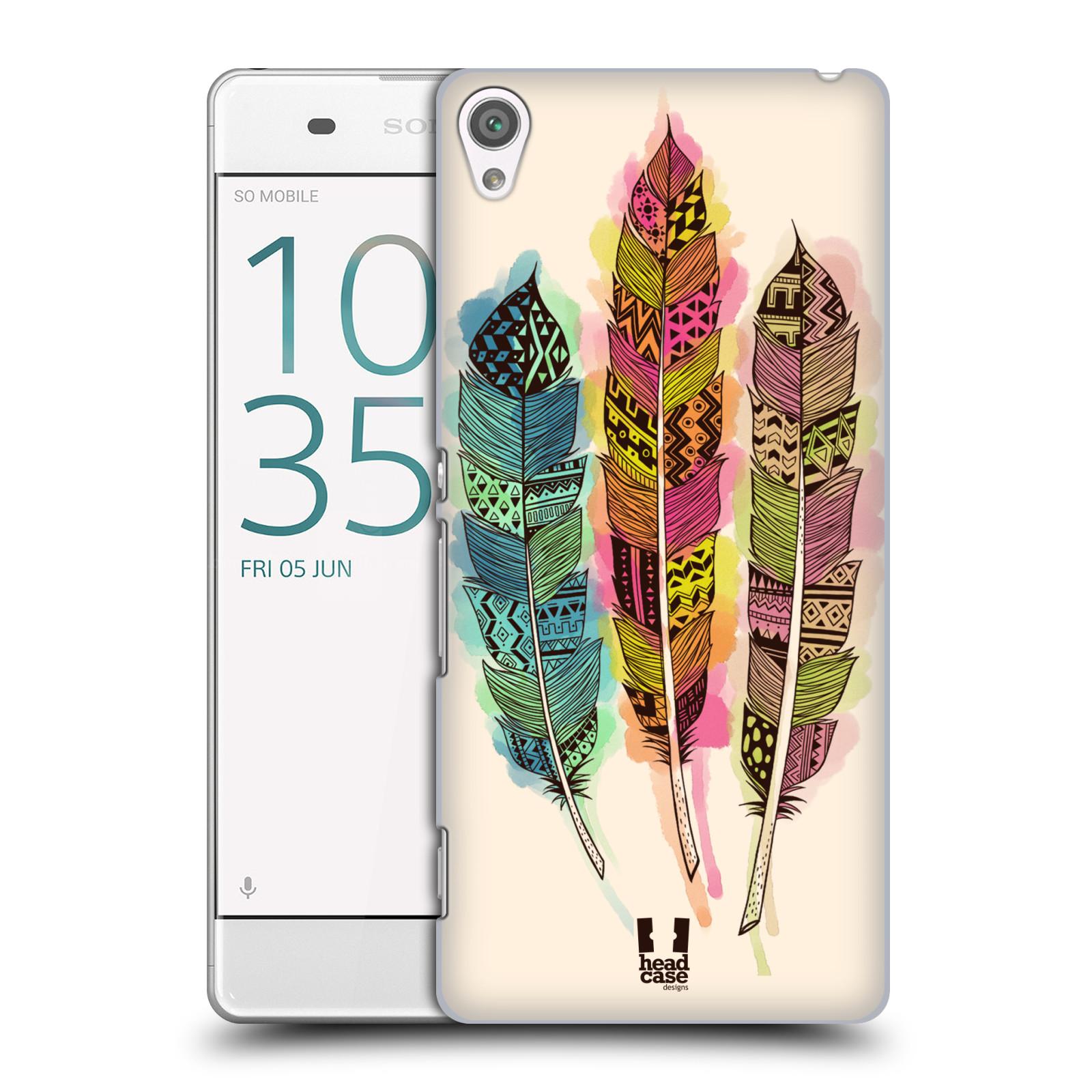 Plastové pouzdro na mobil Sony Xperia XA HEAD CASE AZTEC PÍRKA SPLASH