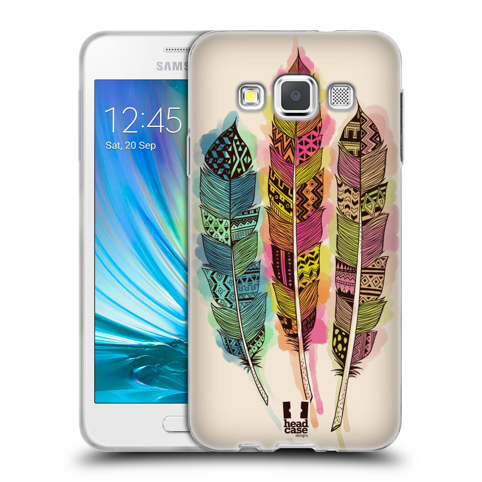 Silikonové pouzdro na mobil Samsung Galaxy A3 HEAD CASE AZTEC PÍRKA SPLASH