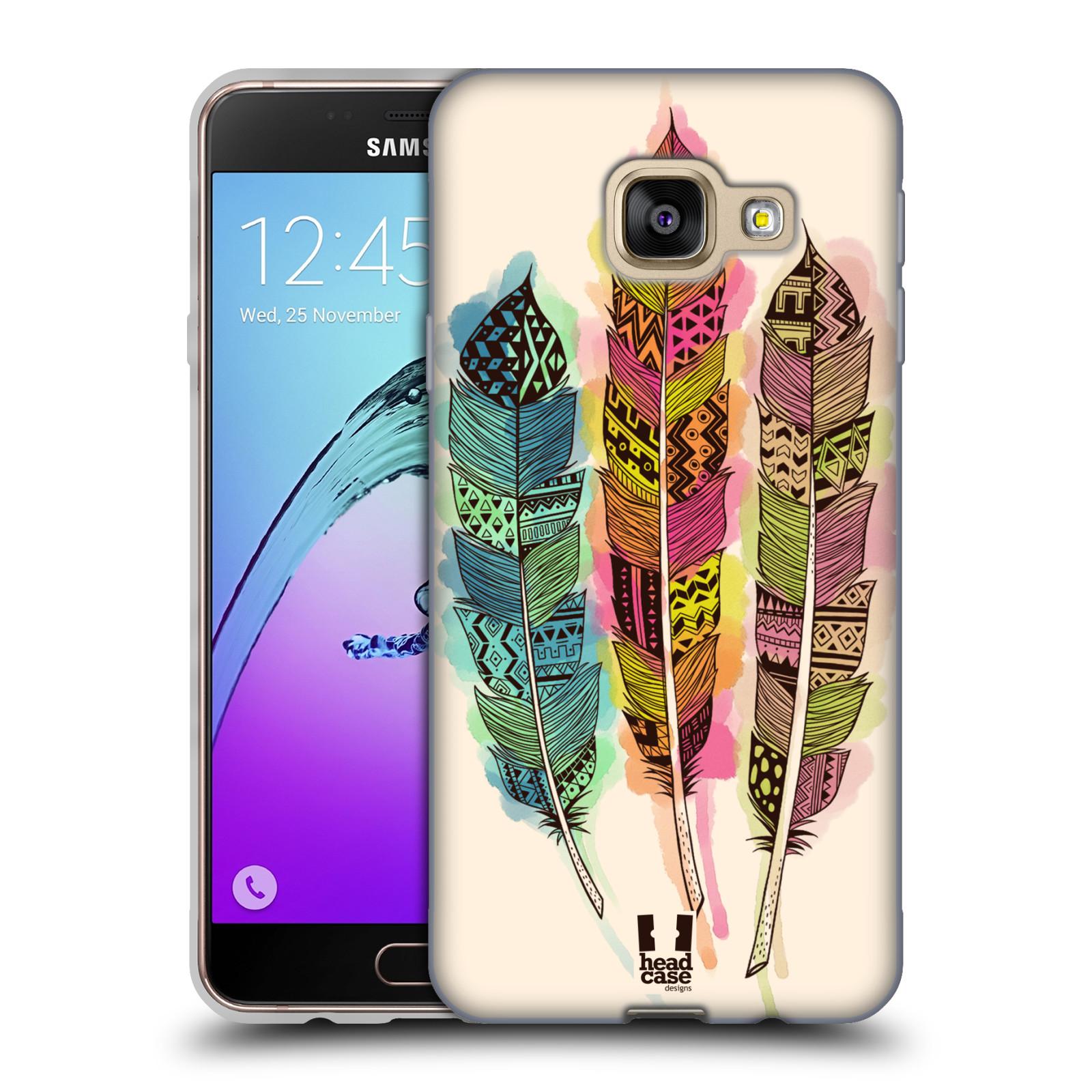 Silikonové pouzdro na mobil Samsung Galaxy A3 (2016) HEAD CASE AZTEC PÍRKA SPLASH