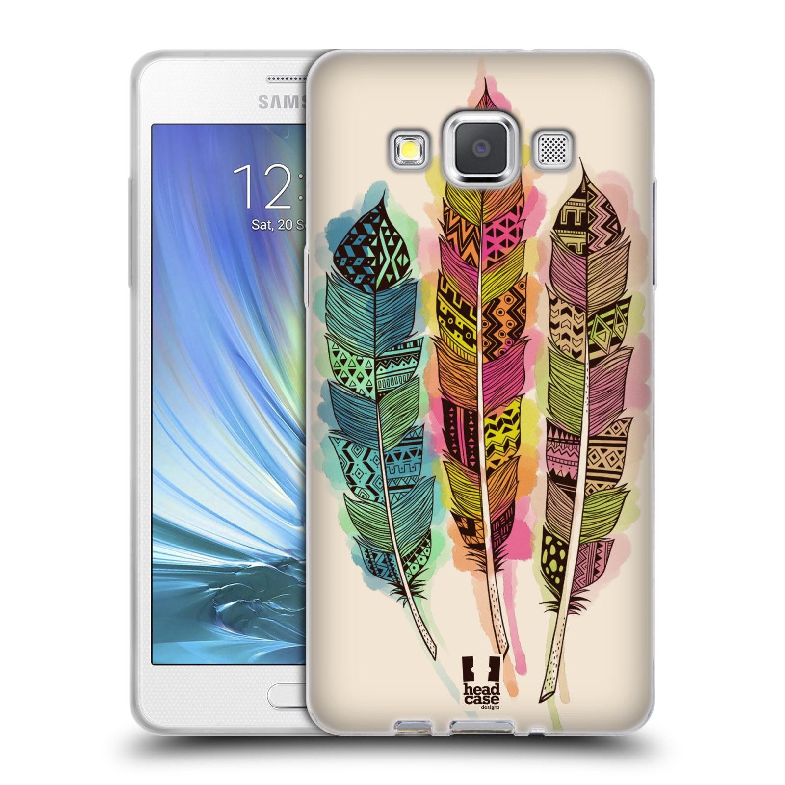 Silikonové pouzdro na mobil Samsung Galaxy A5 HEAD CASE AZTEC PÍRKA SPLASH