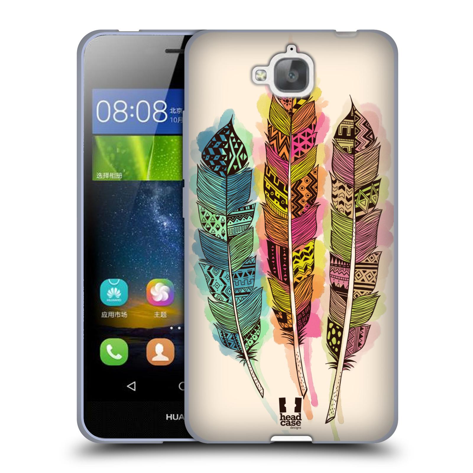 Silikonové pouzdro na mobil Huawei Y6 Pro Dual Sim HEAD CASE AZTEC PÍRKA SPLASH