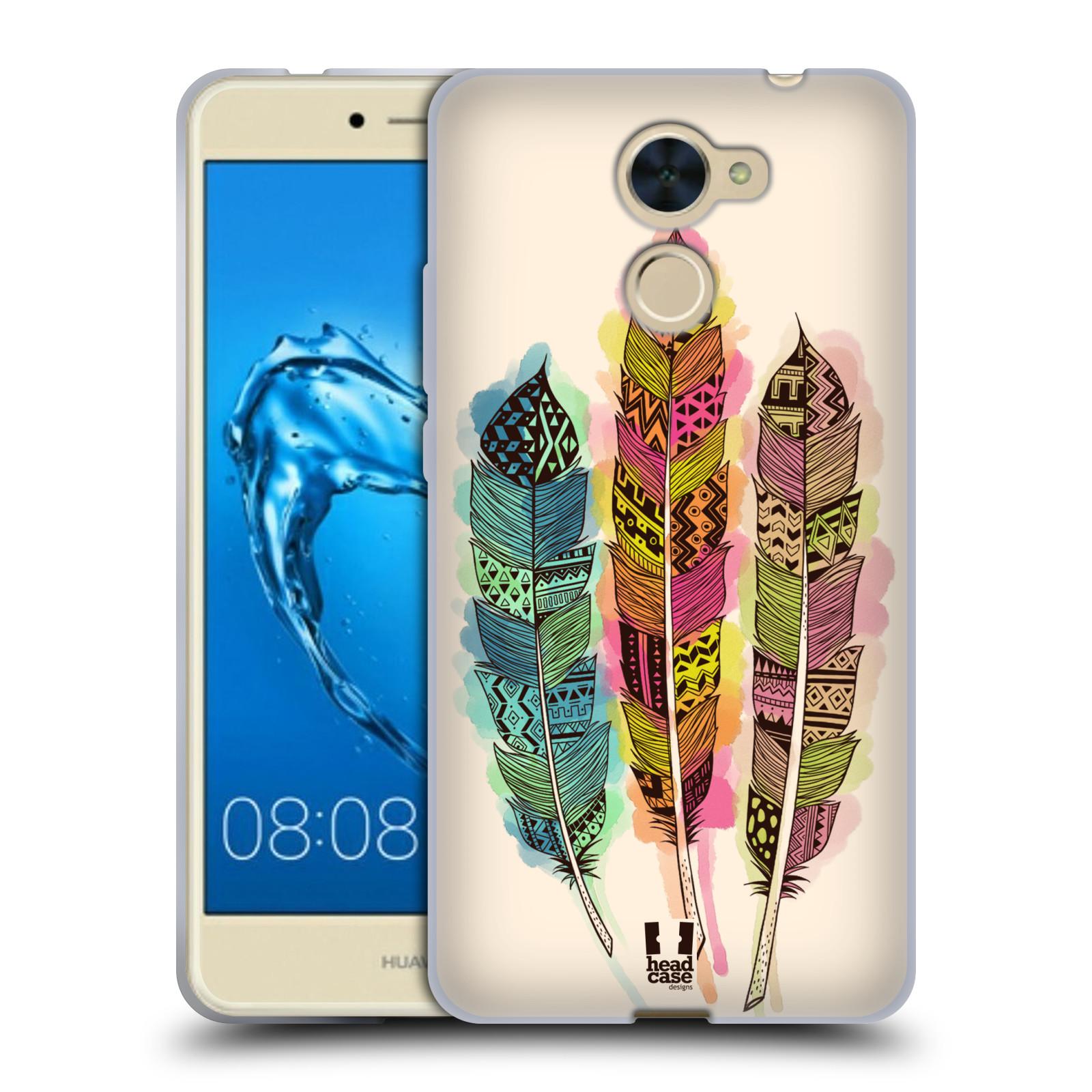 Silikonové pouzdro na mobil Huawei Y7 - Head Case - AZTEC PÍRKA SPLASH