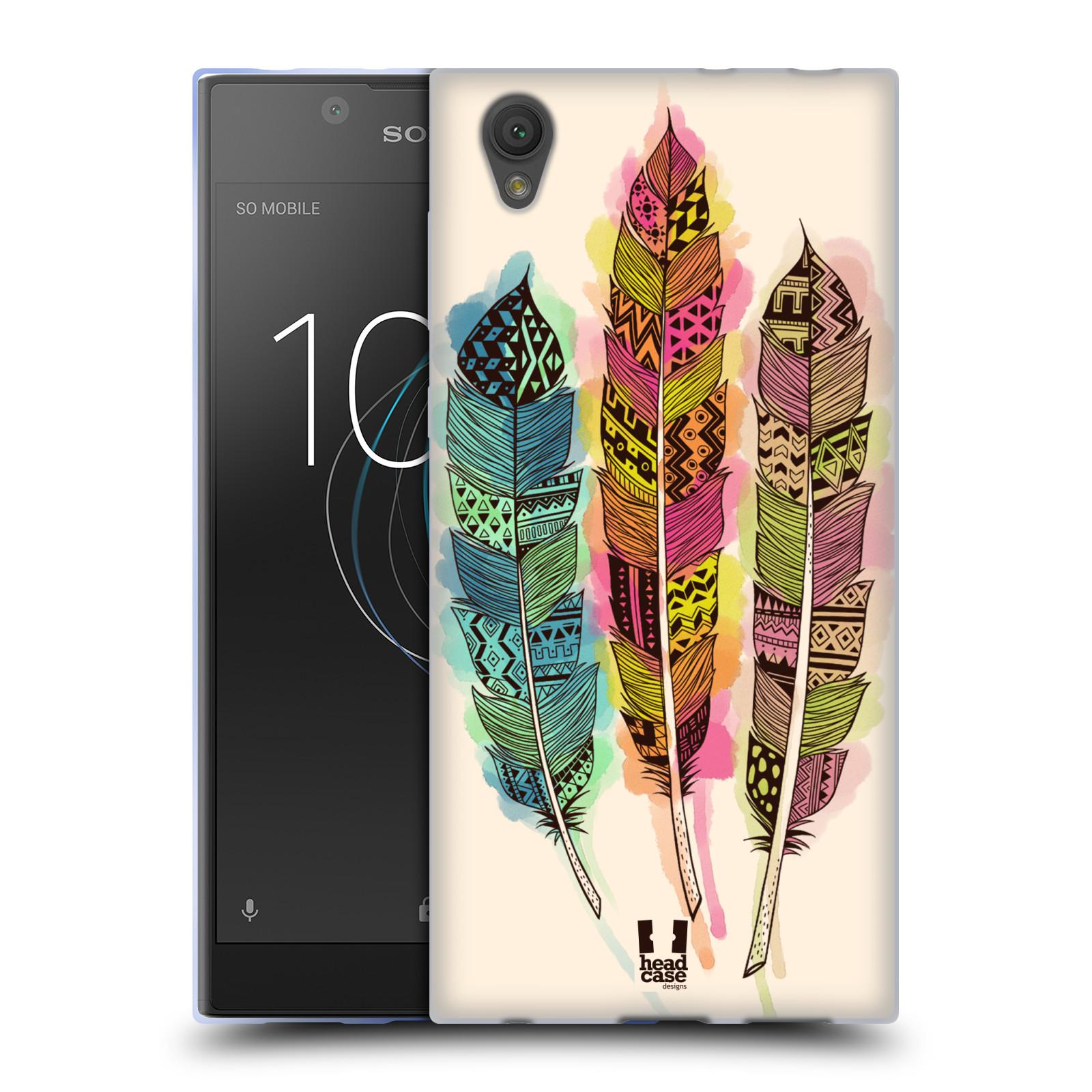 Silikonové pouzdro na mobil Sony Xperia L1 - Head Case - AZTEC PÍRKA SPLASH