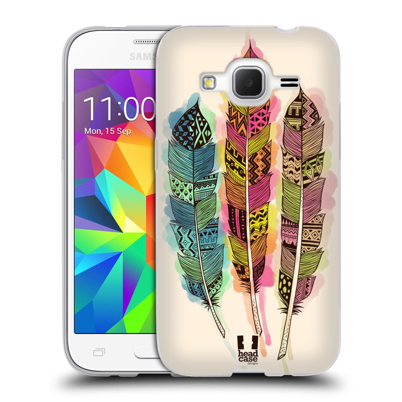 Silikonové pouzdro na mobil Samsung Galaxy Core Prime LTE HEAD CASE AZTEC PÍRKA SPLASH