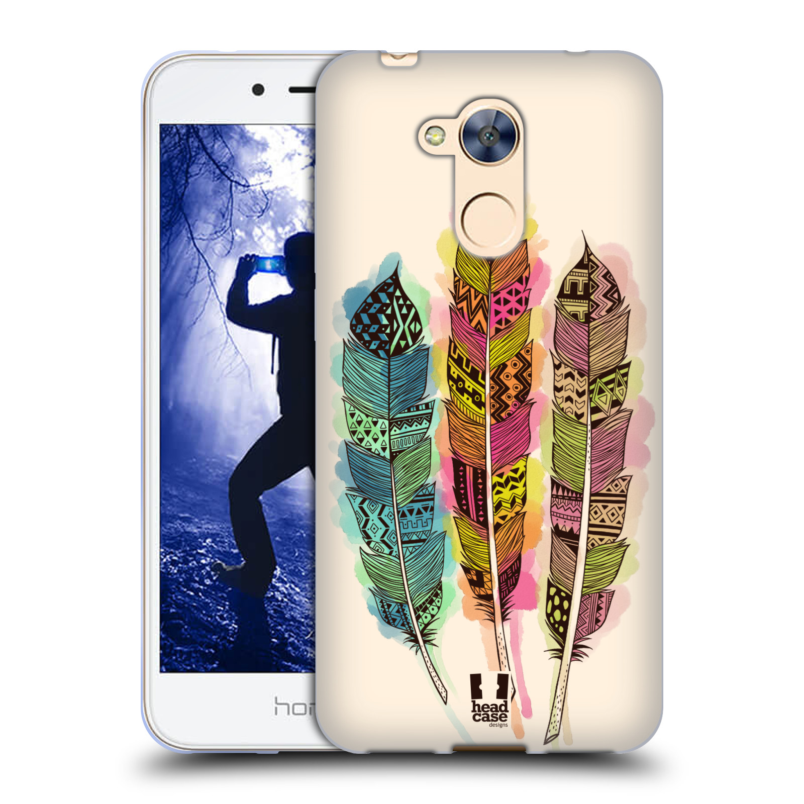 Silikonové pouzdro na mobil Honor 6A - Head Case - AZTEC PÍRKA SPLASH