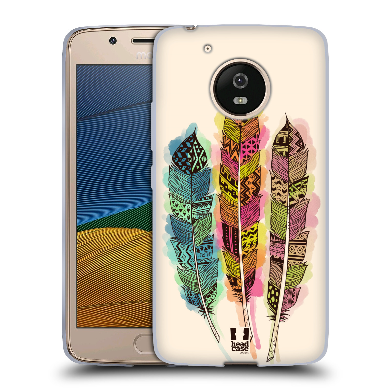 Silikonové pouzdro na mobil Lenovo Moto G5 - Head Case AZTEC PÍRKA SPLASH