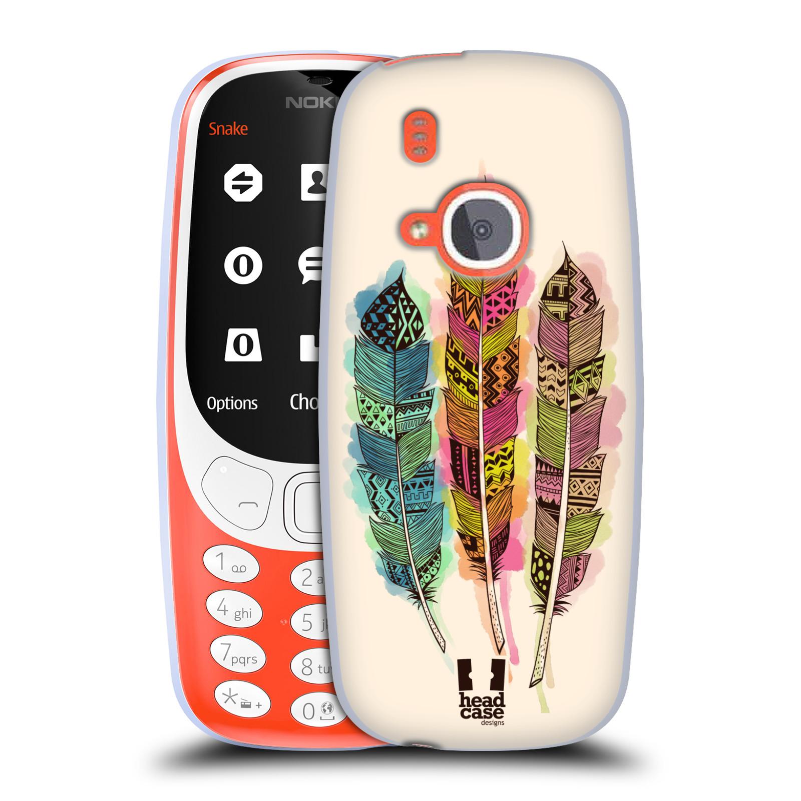 Silikonové pouzdro na mobil Nokia 3310 - Head Case - AZTEC PÍRKA SPLASH