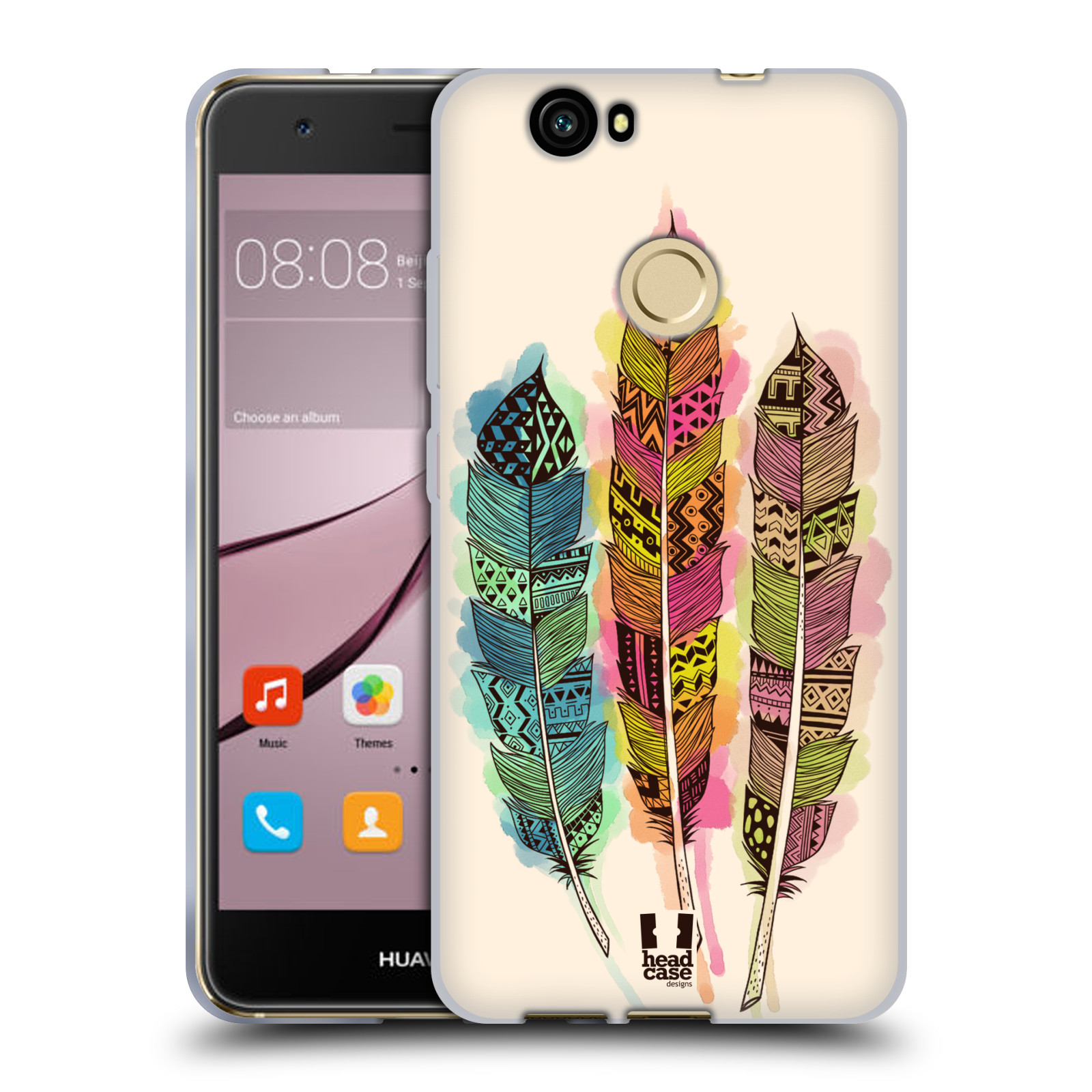 Silikonové pouzdro na mobil Huawei Nova - Head Case - AZTEC PÍRKA SPLASH