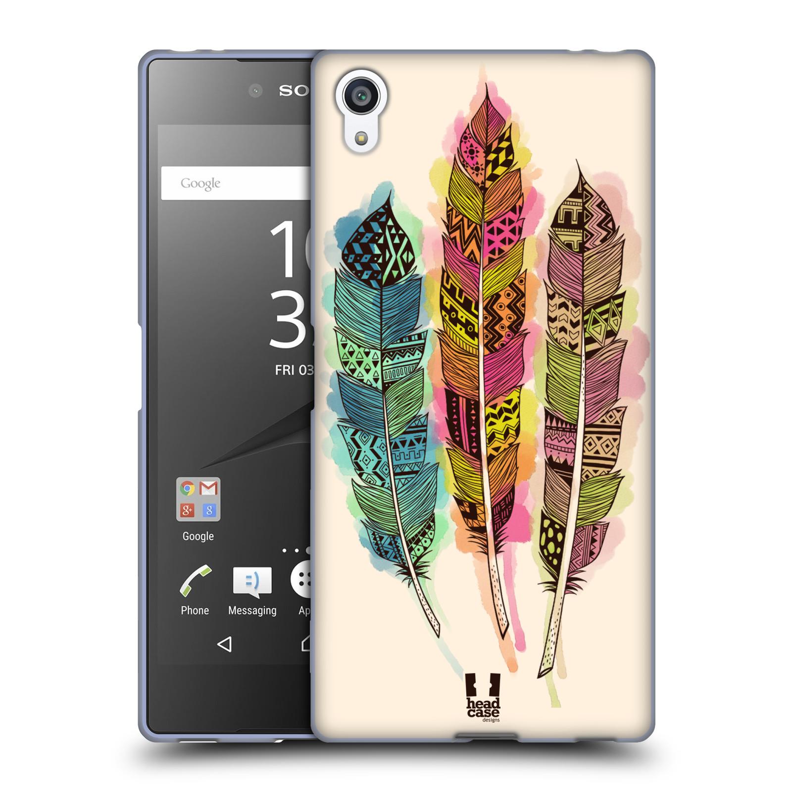 Silikonové pouzdro na mobil Sony Xperia Z5 Premium HEAD CASE AZTEC PÍRKA SPLASH