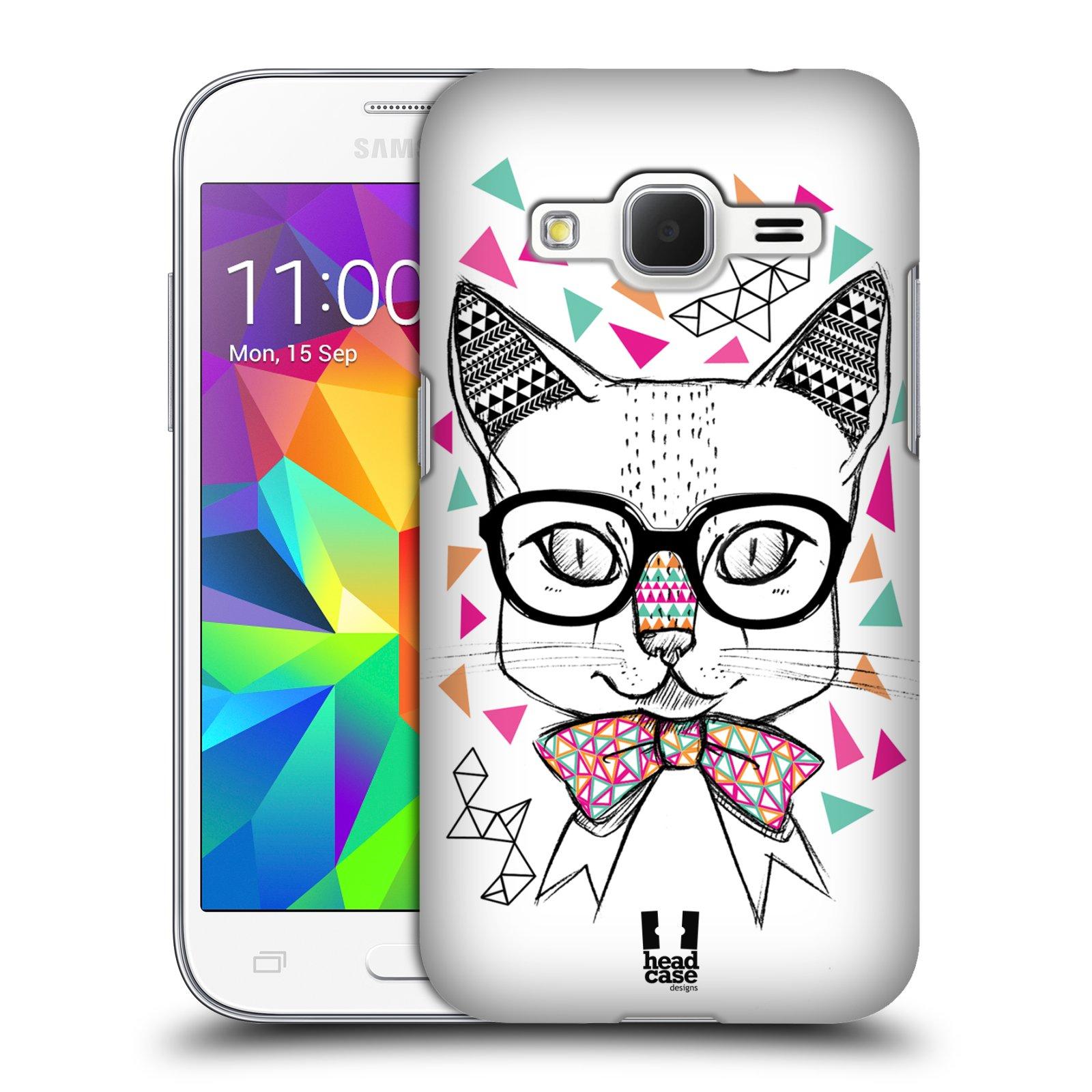 Plastové pouzdro na mobil Samsung Galaxy Core Prime VE HEAD CASE AZTEC KOČIČKA