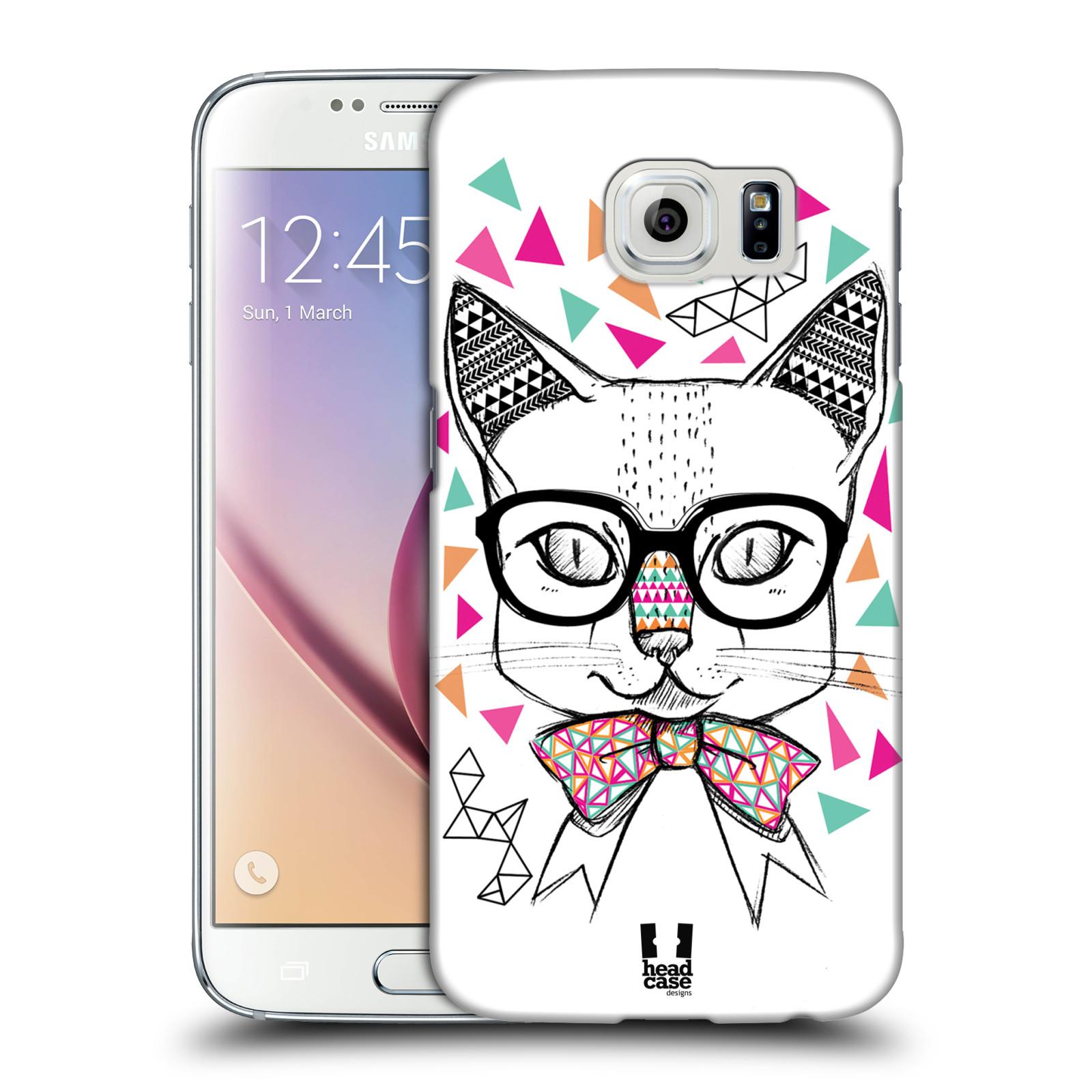Plastové pouzdro na mobil Samsung Galaxy S6 HEAD CASE AZTEC KOČIČKA