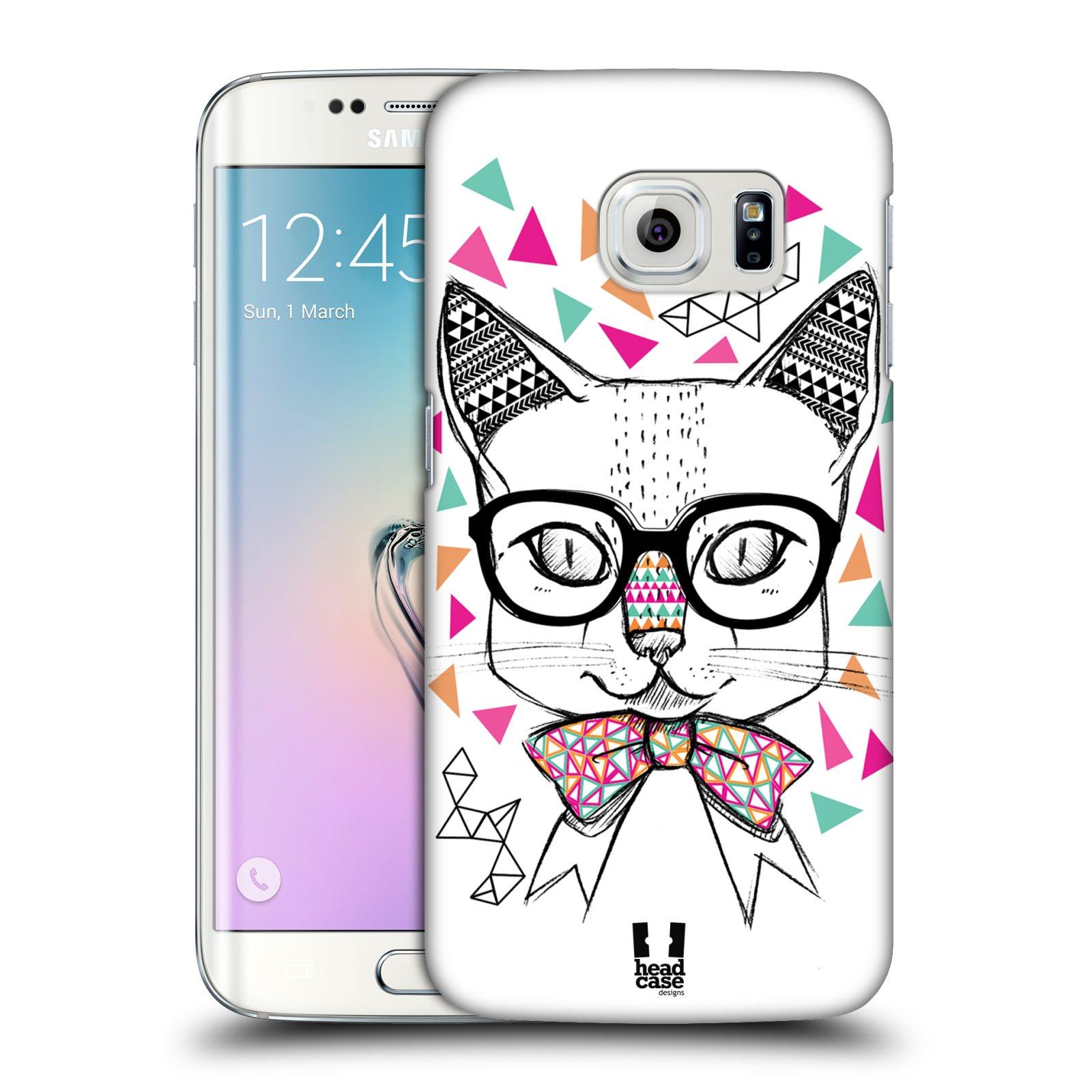 Plastové pouzdro na mobil Samsung Galaxy S6 Edge HEAD CASE AZTEC KOČIČKA