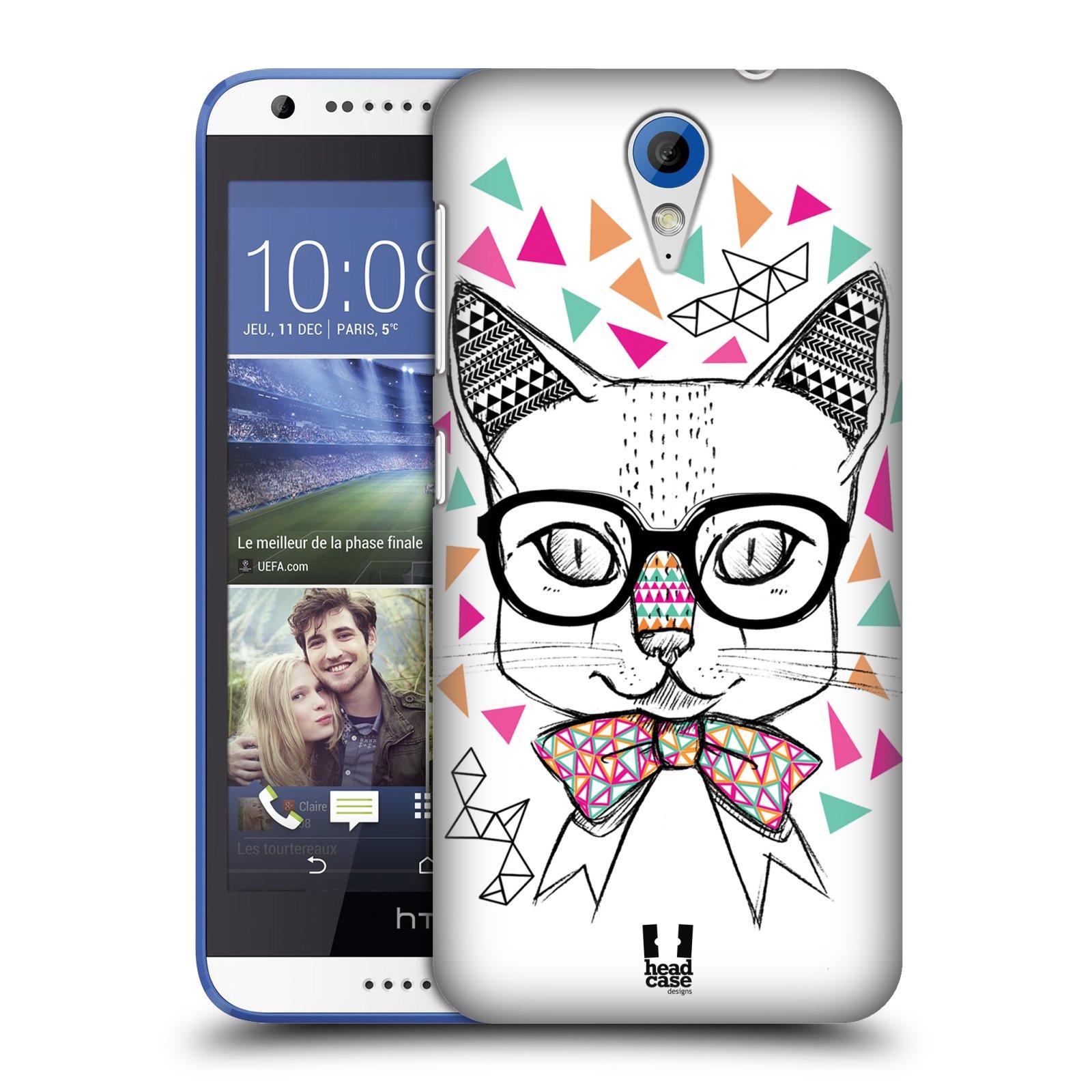 Plastové pouzdro na mobil HTC Desire 620 HEAD CASE AZTEC KOČIČKA