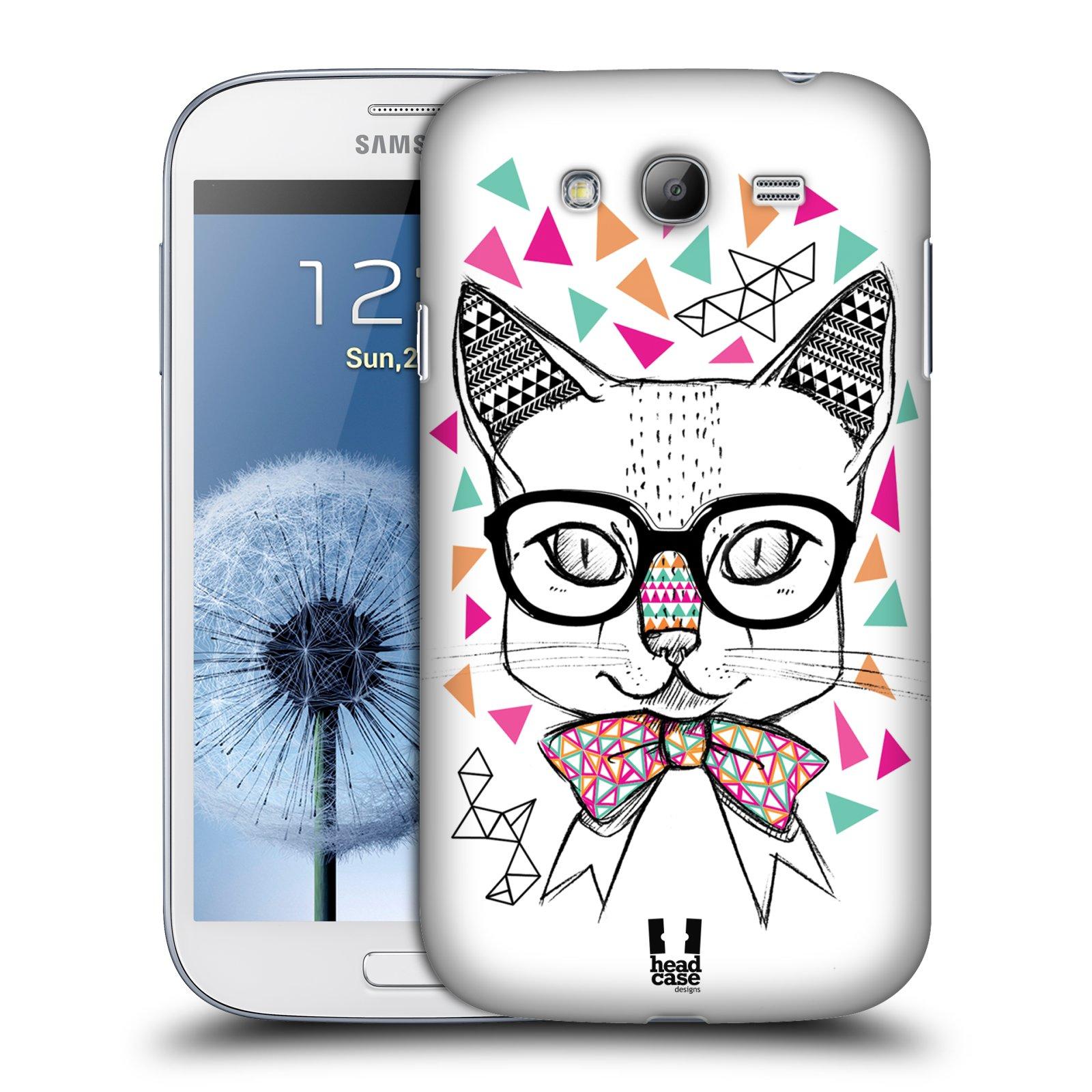 Plastové pouzdro na mobil Samsung Galaxy Grand Neo Plus HEAD CASE AZTEC KOČIČKA (Kryt či obal na mobilní telefon Samsung Galaxy Grand Neo Plus GT-i9060i)