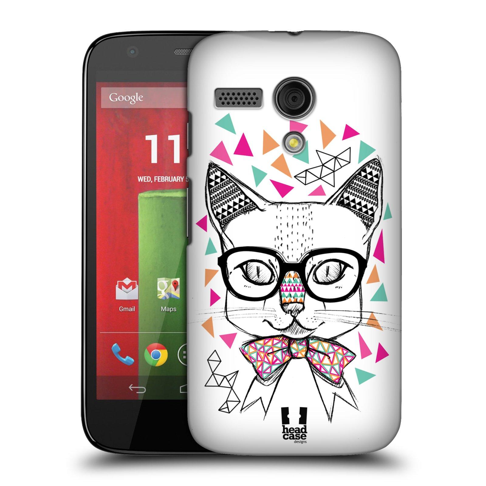 Plastové pouzdro na mobil Motorola Moto G HEAD CASE AZTEC KOČIČKA (Kryt či obal na mobilní telefon Motorola Moto G)