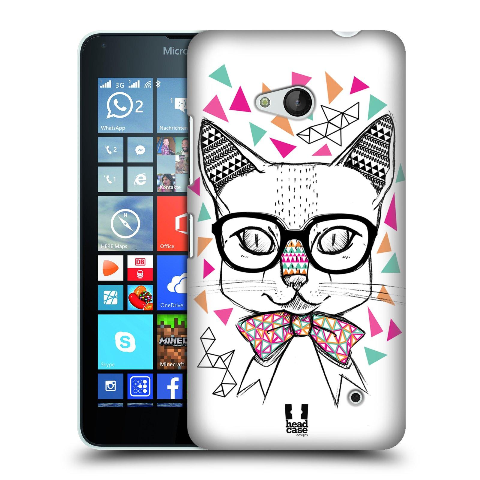 Plastové pouzdro na mobil Microsoft Lumia 640 HEAD CASE AZTEC KOČIČKA