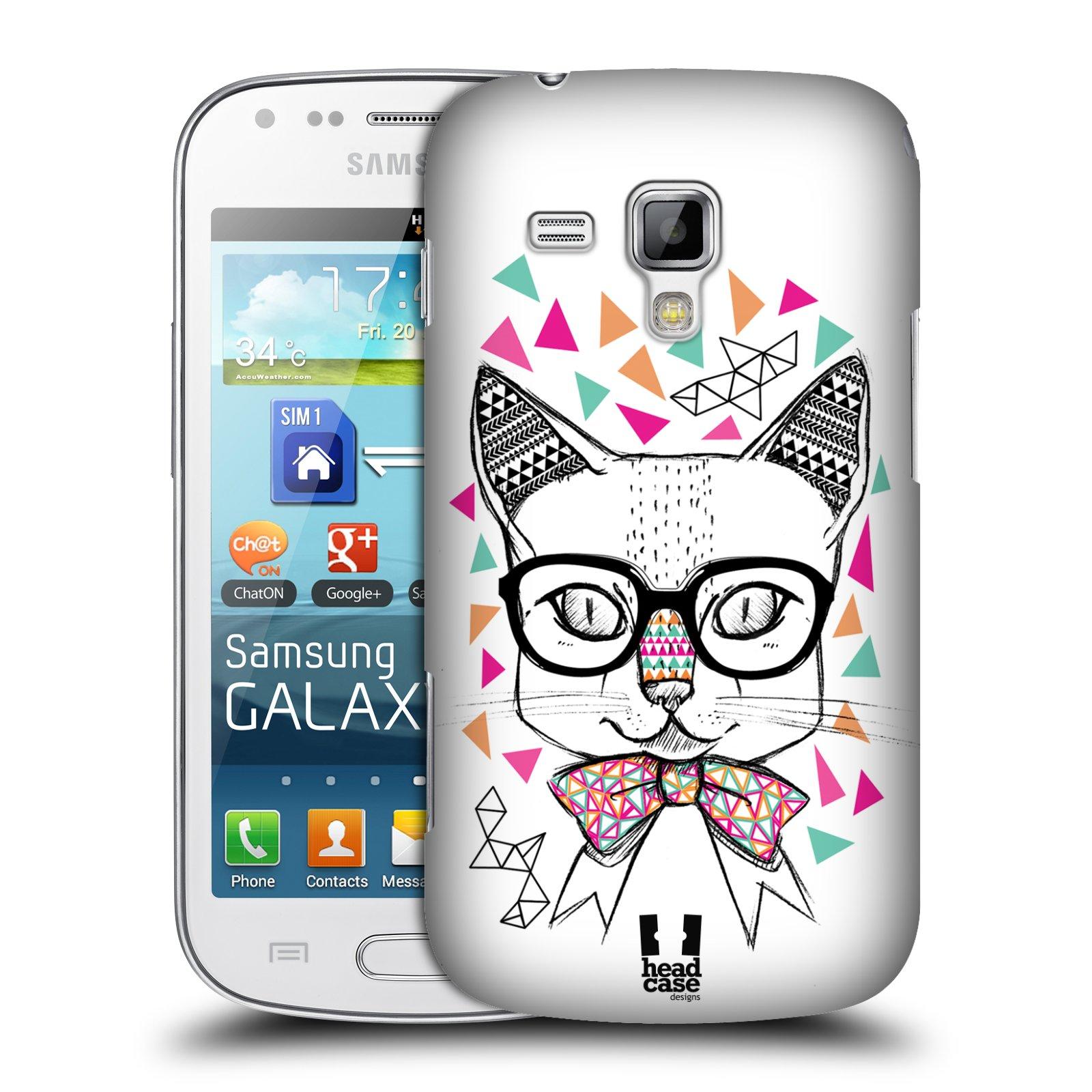 Plastové pouzdro na mobil Samsung Galaxy S Duos 2 HEAD CASE AZTEC KOČIČKA