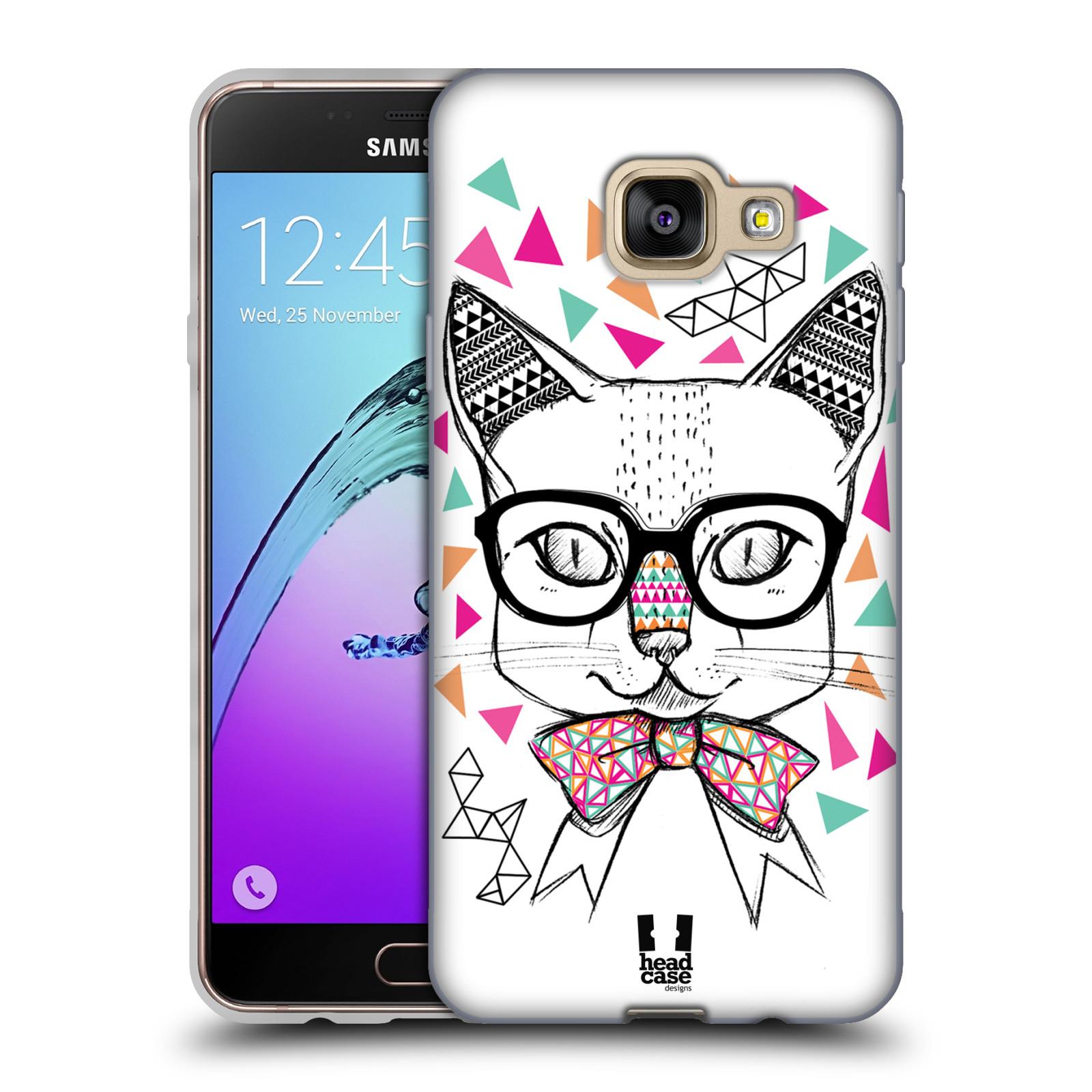 Silikonové pouzdro na mobil Samsung Galaxy A3 (2016) HEAD CASE AZTEC KOČIČKA