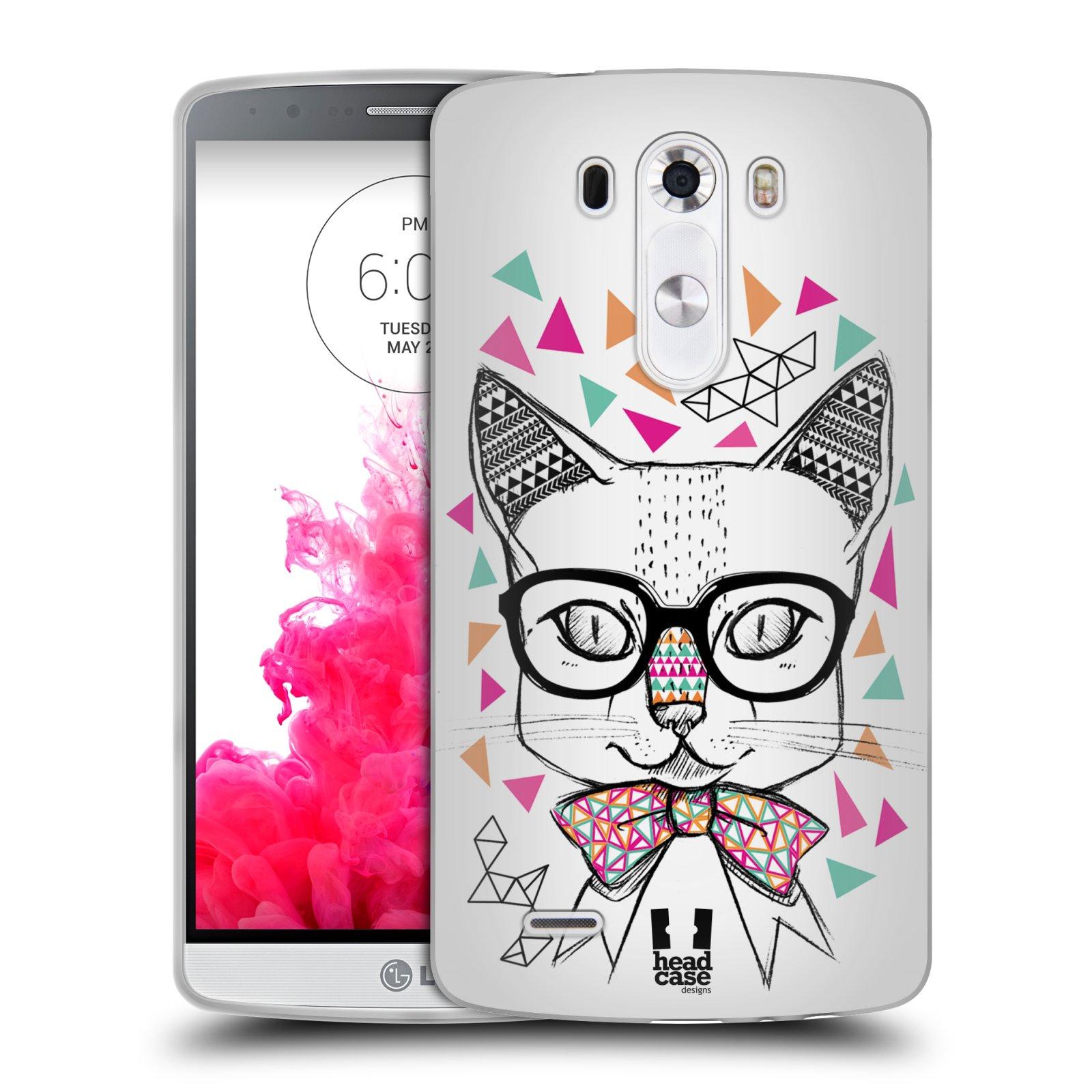 Silikonové pouzdro na mobil LG G3 HEAD CASE AZTEC KOČIČKA (Silikonový kryt či obal na mobilní telefon LG G3 D855)